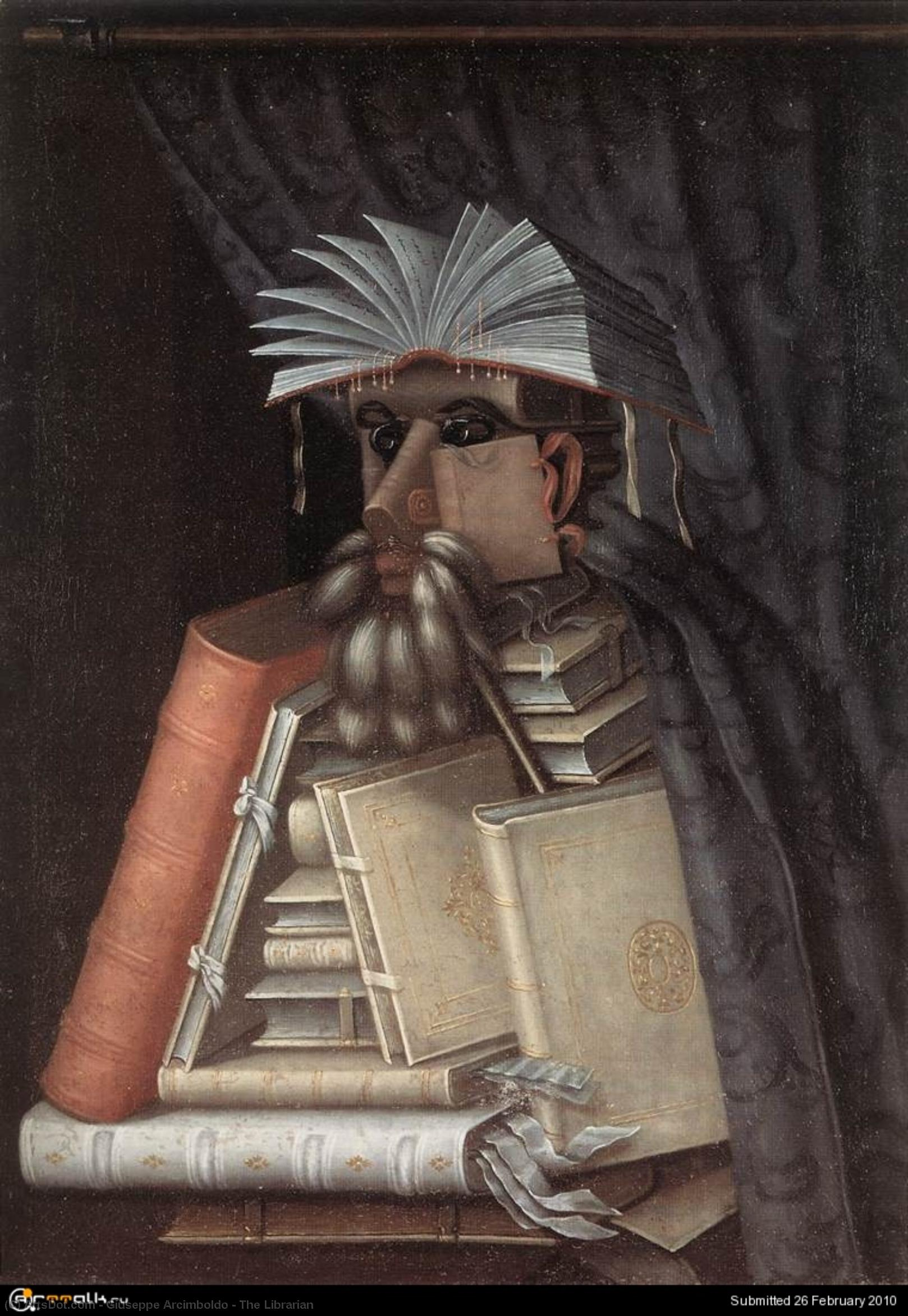 The Librarian, 1566 by Giuseppe Arcimboldo (1527-1593, Italy) | Museum Art Reproductions | ArtsDot.com