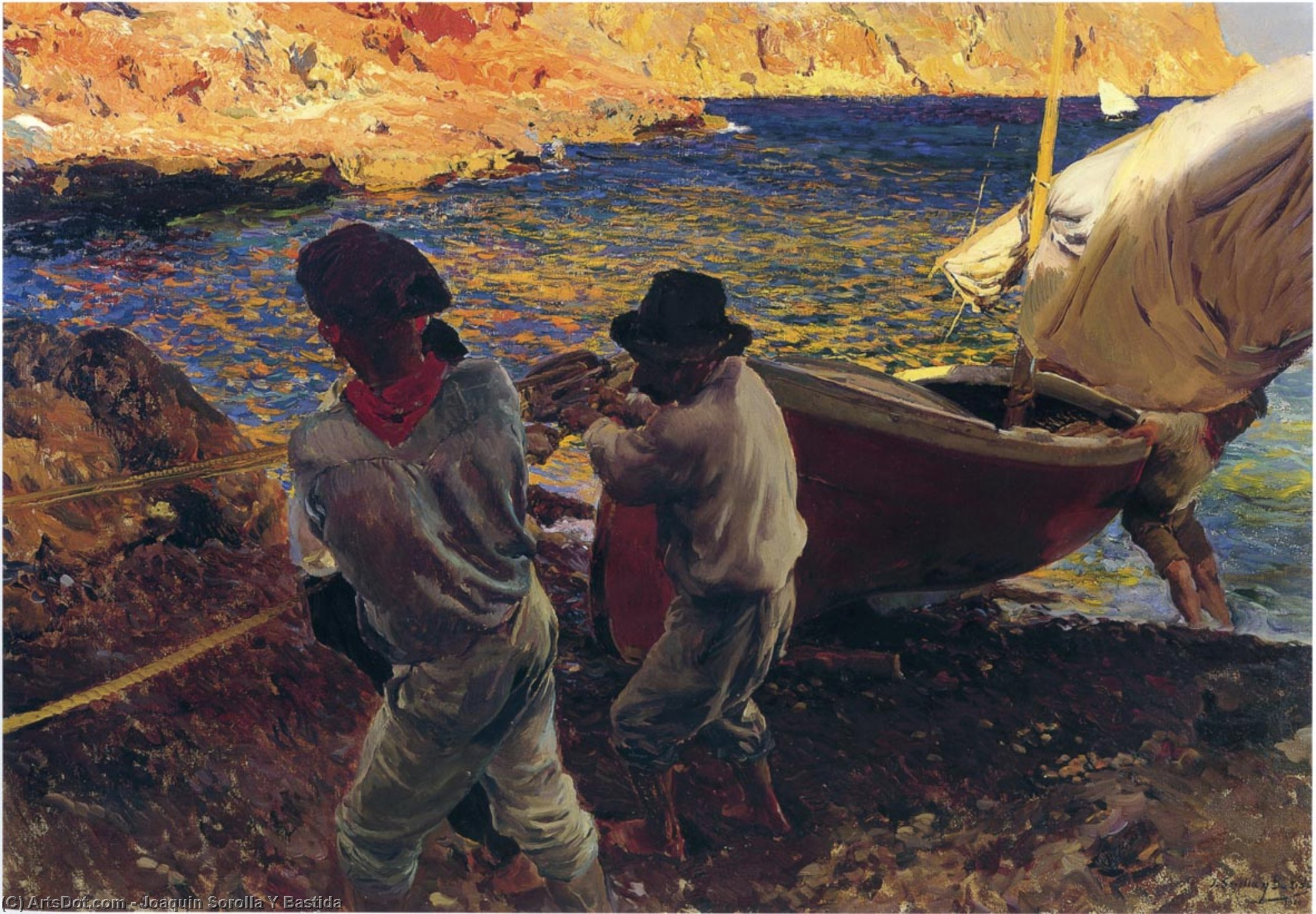End of the Day, Javea, Oil On Canvas by Joaquin Sorolla Y Bastida (1863-1923, Spain)