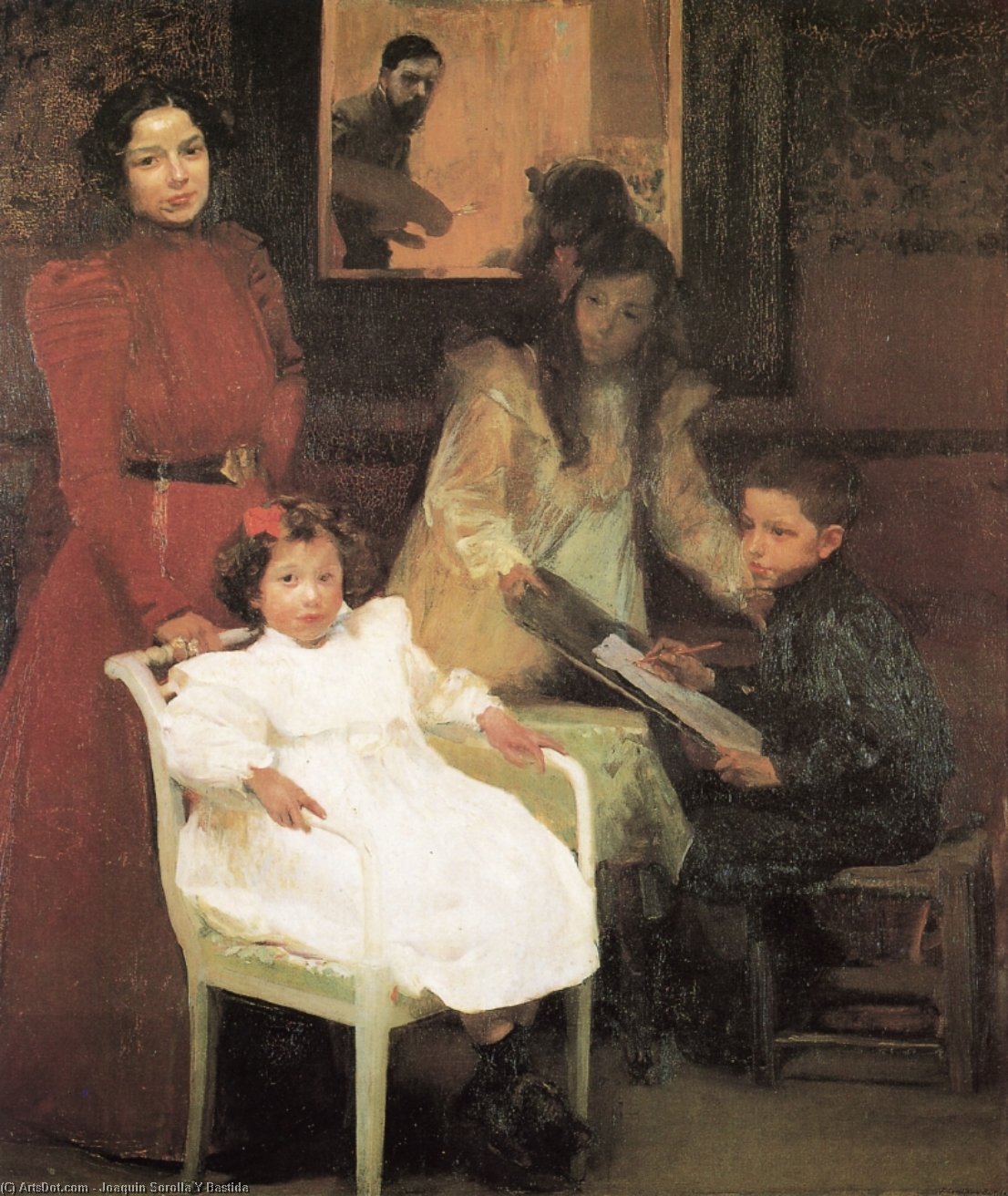 My Family, Oil On Canvas by Joaquin Sorolla Y Bastida (1863-1923, Spain)