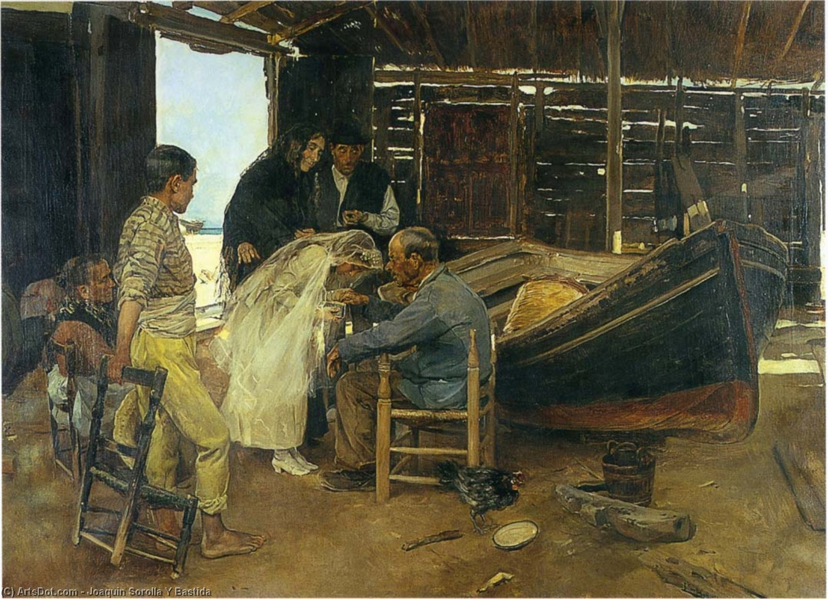 The happy day, Oil On Canvas by Joaquin Sorolla Y Bastida (1863-1923, Spain)