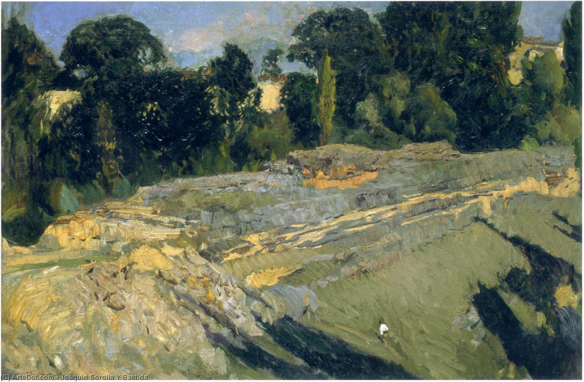 The outskirts of Segovia, Oil On Canvas by Joaquin Sorolla Y Bastida (1863-1923, Spain)