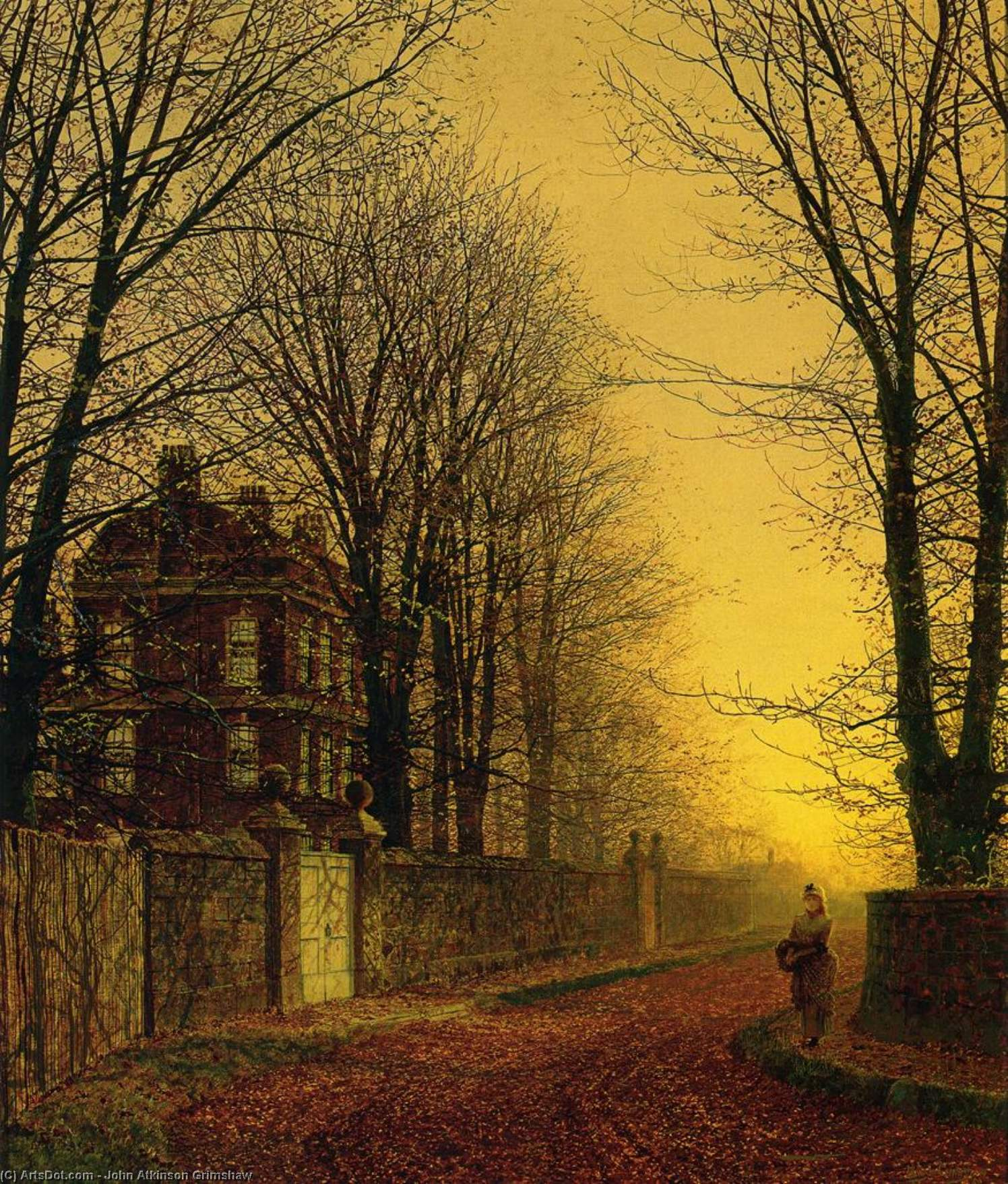 Autumn Gold by John Atkinson Grimshaw (1836-1893, United Kingdom)