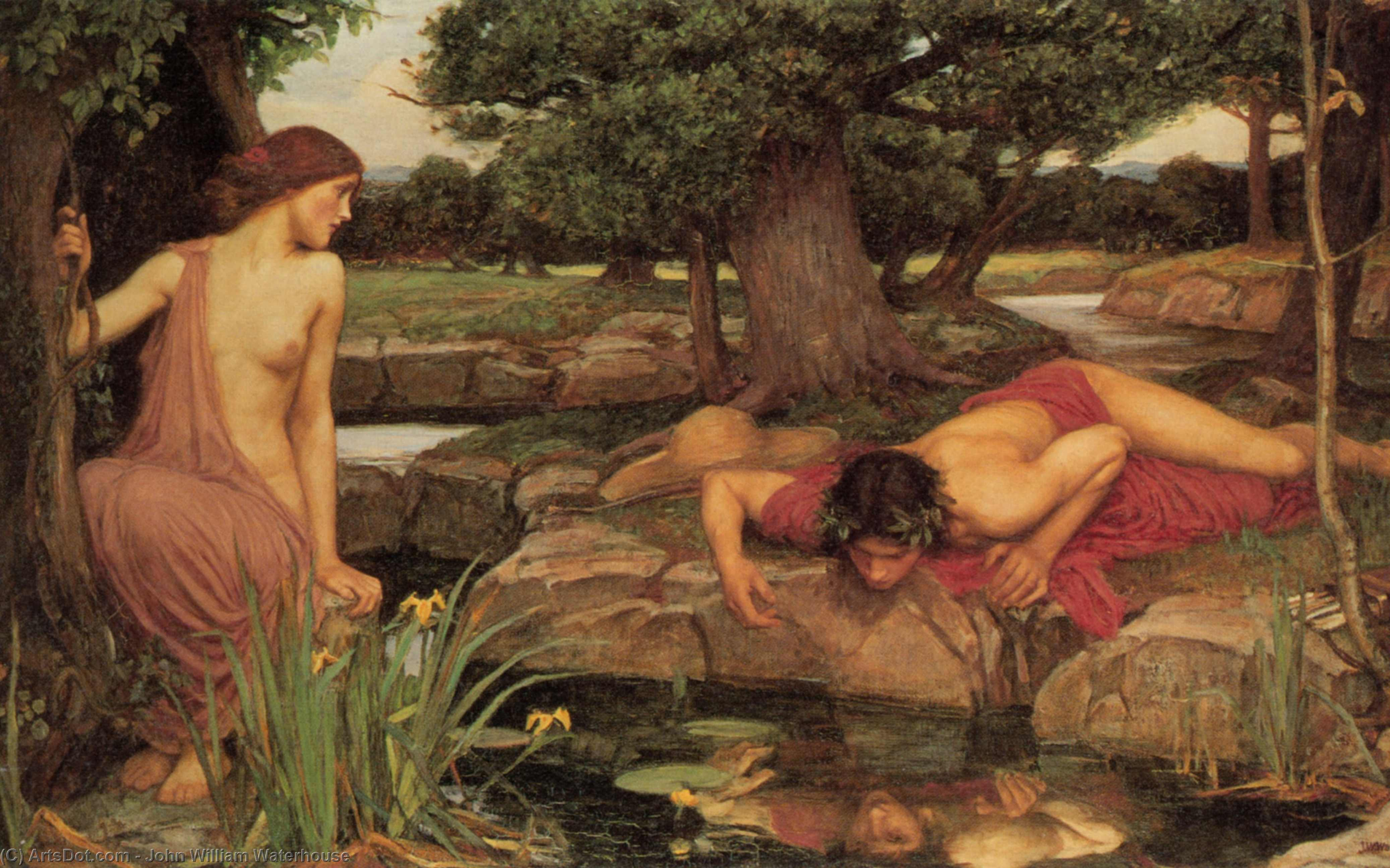 Buy Museum Art Reproductions : Echo and Narcissus, 1903 by John William Waterhouse (1849-1917, Italy) | ArtsDot.com