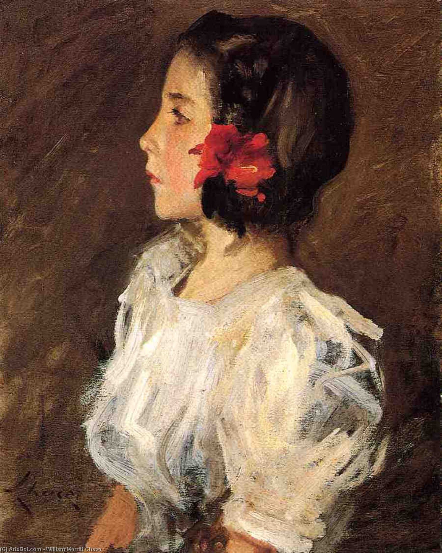 Dorothy, 1906 by William Merritt Chase (1849-1916, United States) | ArtsDot.com