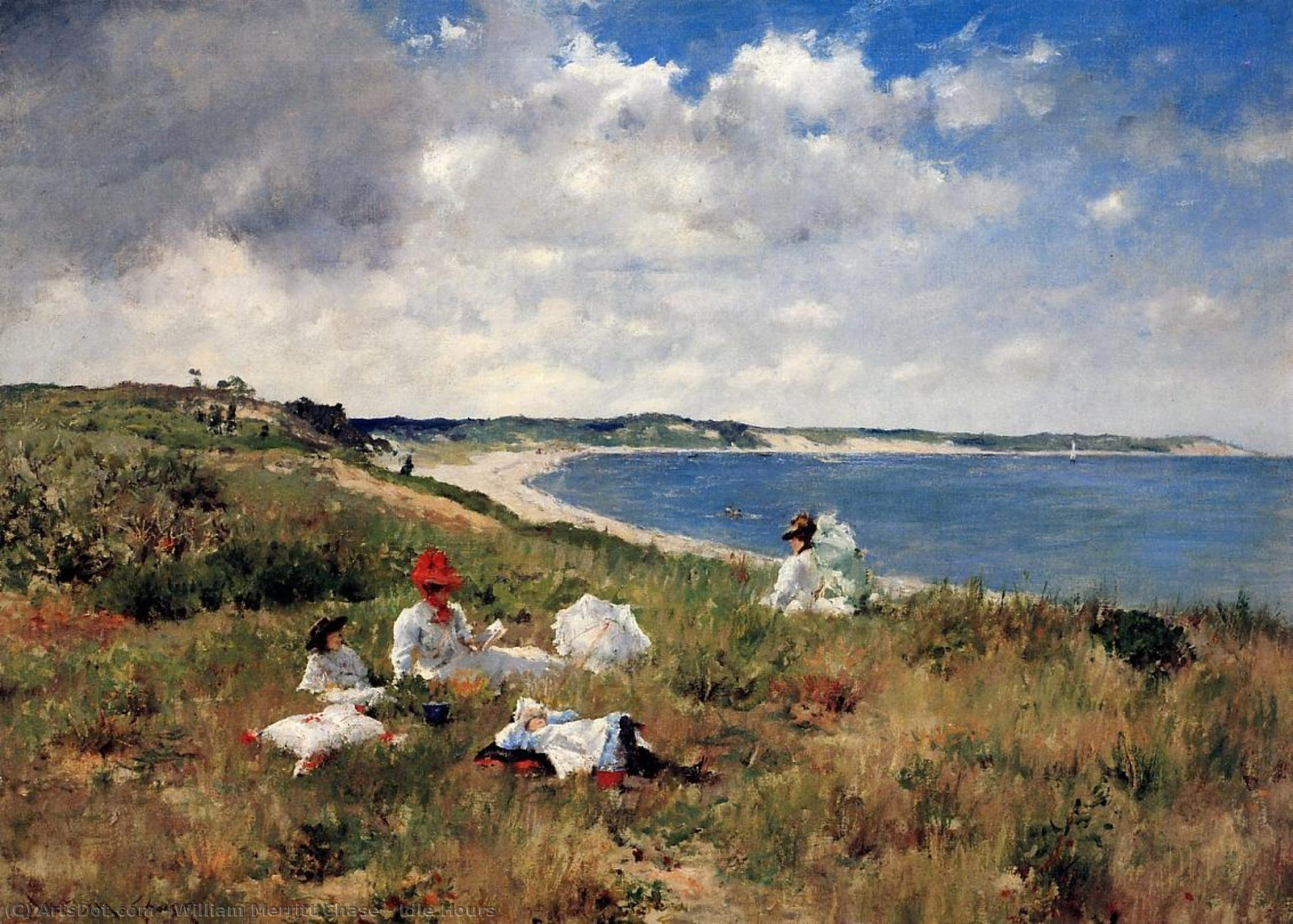 Idle Hours, 1894 by William Merritt Chase (1849-1916, United States) | Museum Quality Copies William Merritt Chase | ArtsDot.com