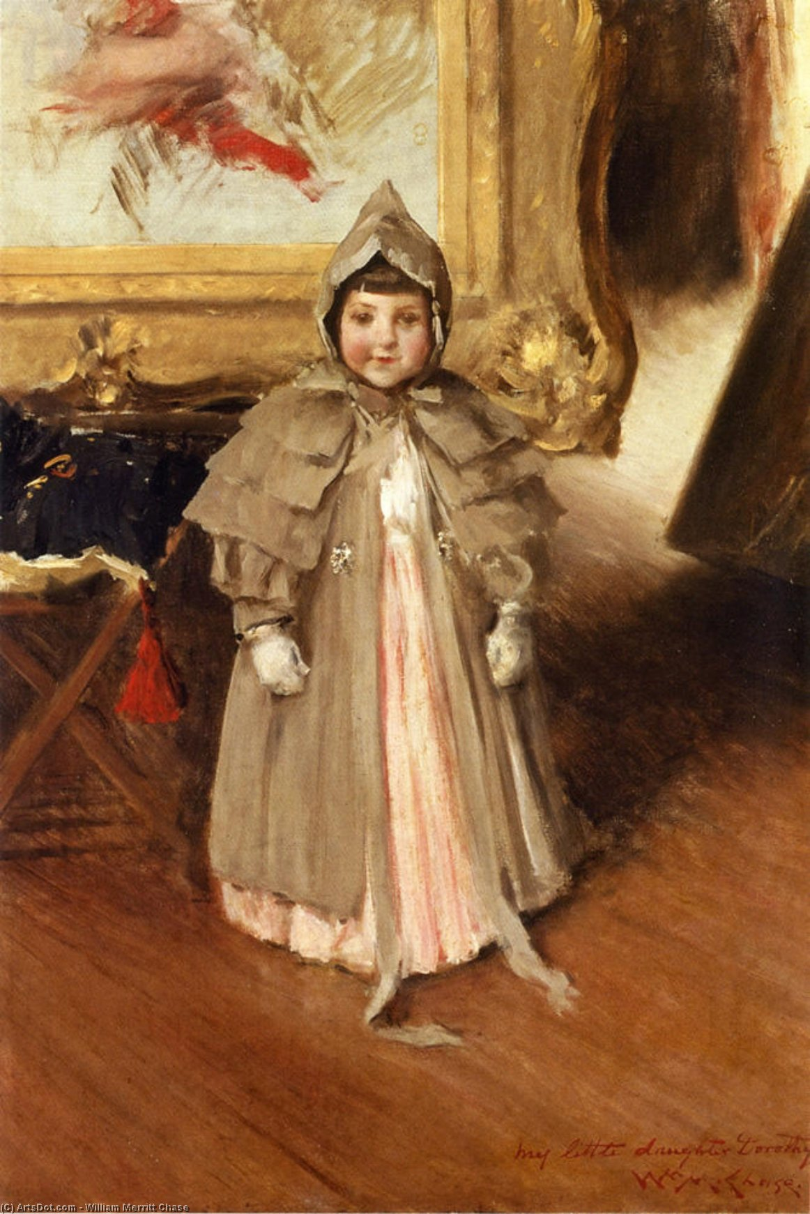 My Little Daughter Dorothy, Oil On Canvas by William Merritt Chase (1849-1916, United States)