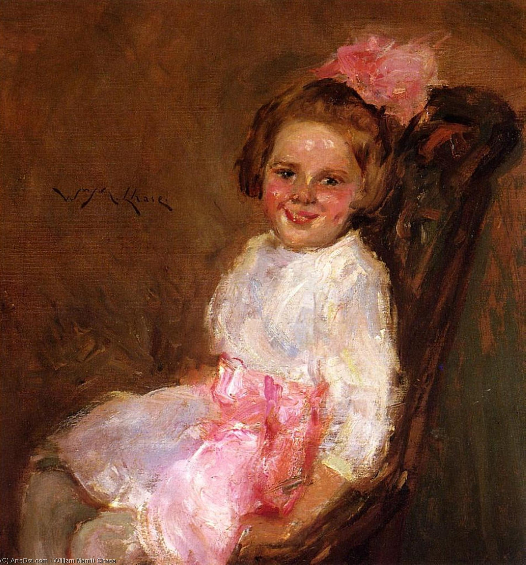 Portrait of Helen, Daughter of the Artist, Oil On Canvas by William Merritt Chase (1849-1916, United States)