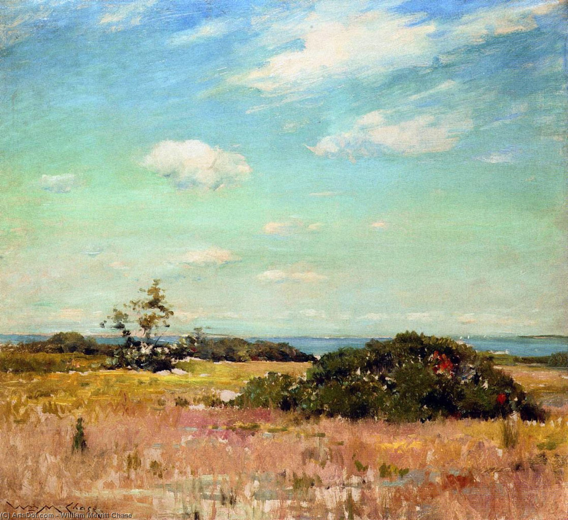 Shinnecock Hills, Long Island, Oil by William Merritt Chase (1849-1916, United States)