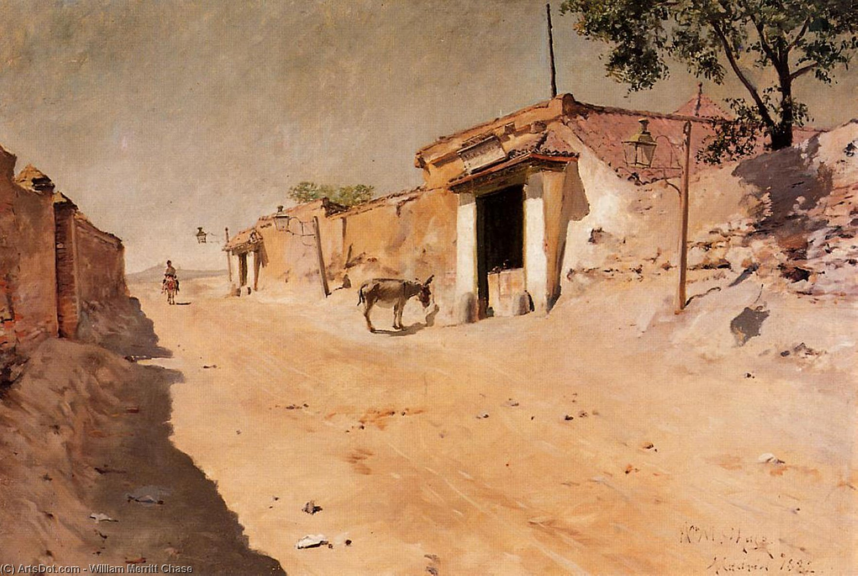 Spanish Village, Oil On Canvas by William Merritt Chase (1849-1916, United States)
