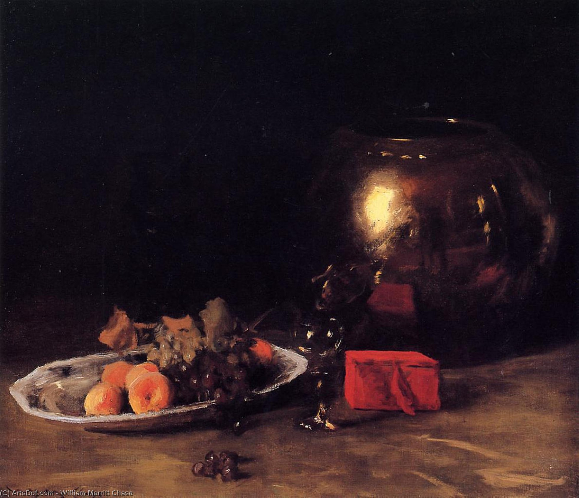 The Big Brass Bowl, Oil On Canvas by William Merritt Chase (1849-1916, United States)
