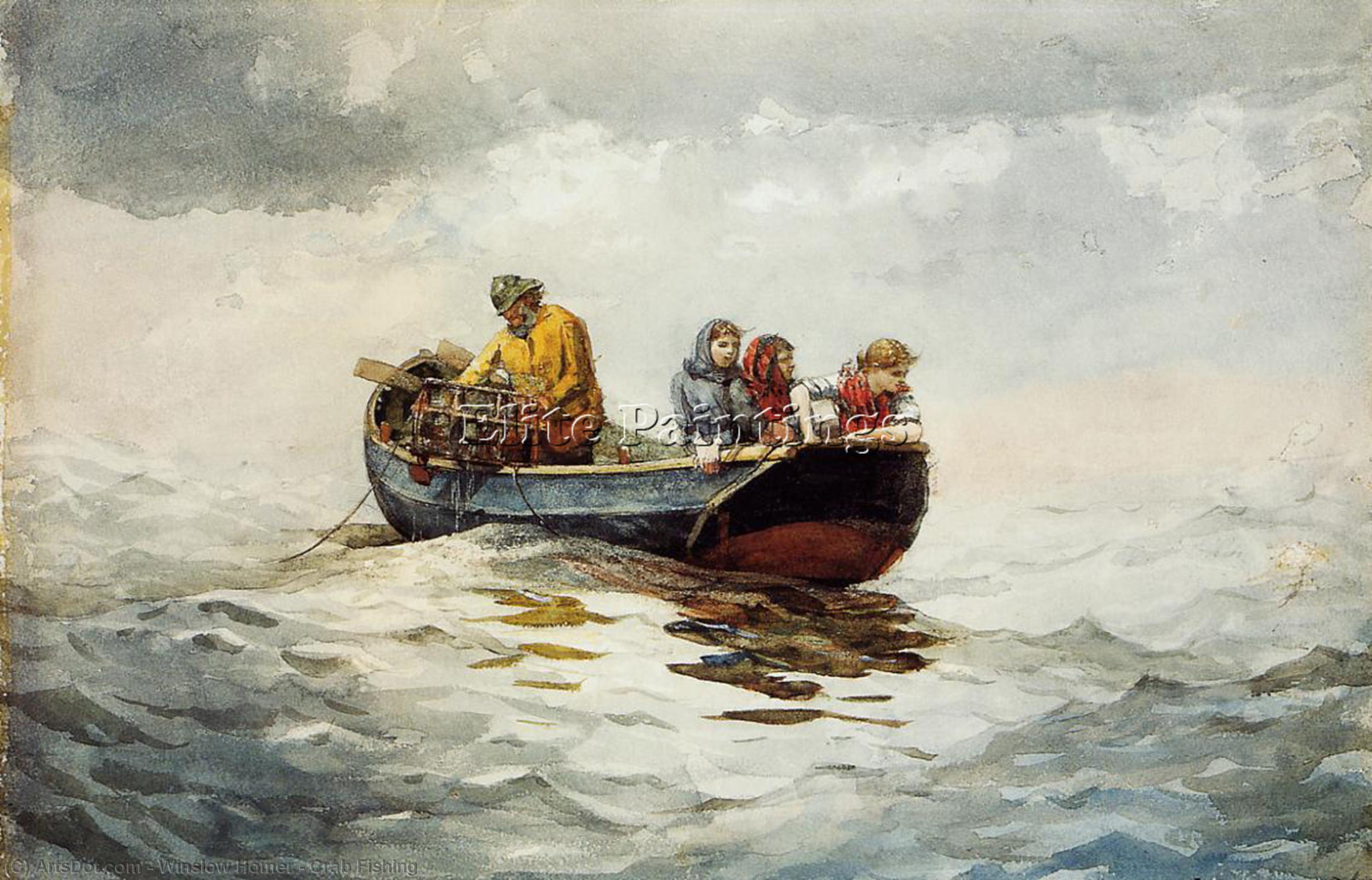 Crab Fishing, 1883 by Winslow Homer (1836-1910, United States) | Art Reproduction | ArtsDot.com