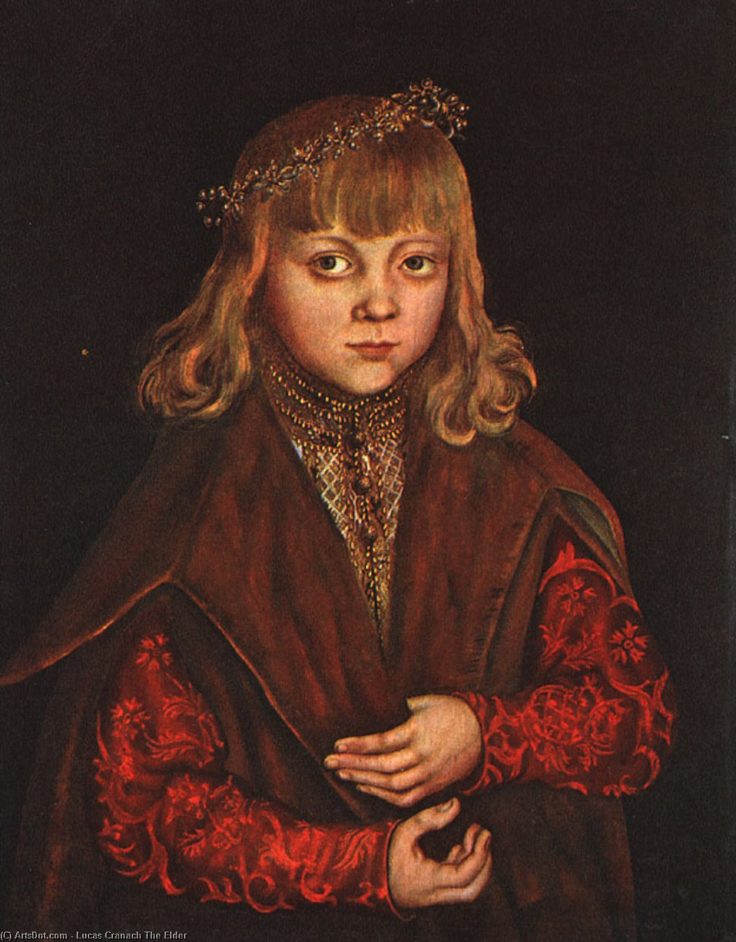 A Prince of Saxony, Oil On Panel by Lucas Cranach The Elder (1472-1553, Germany)