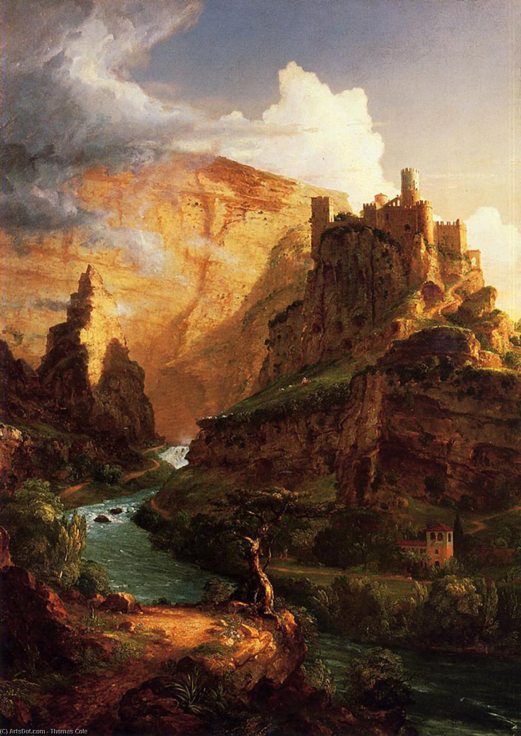 Valley of the Vaucluse, Oil On Canvas by Thomas Cole (1801-1848, United Kingdom)