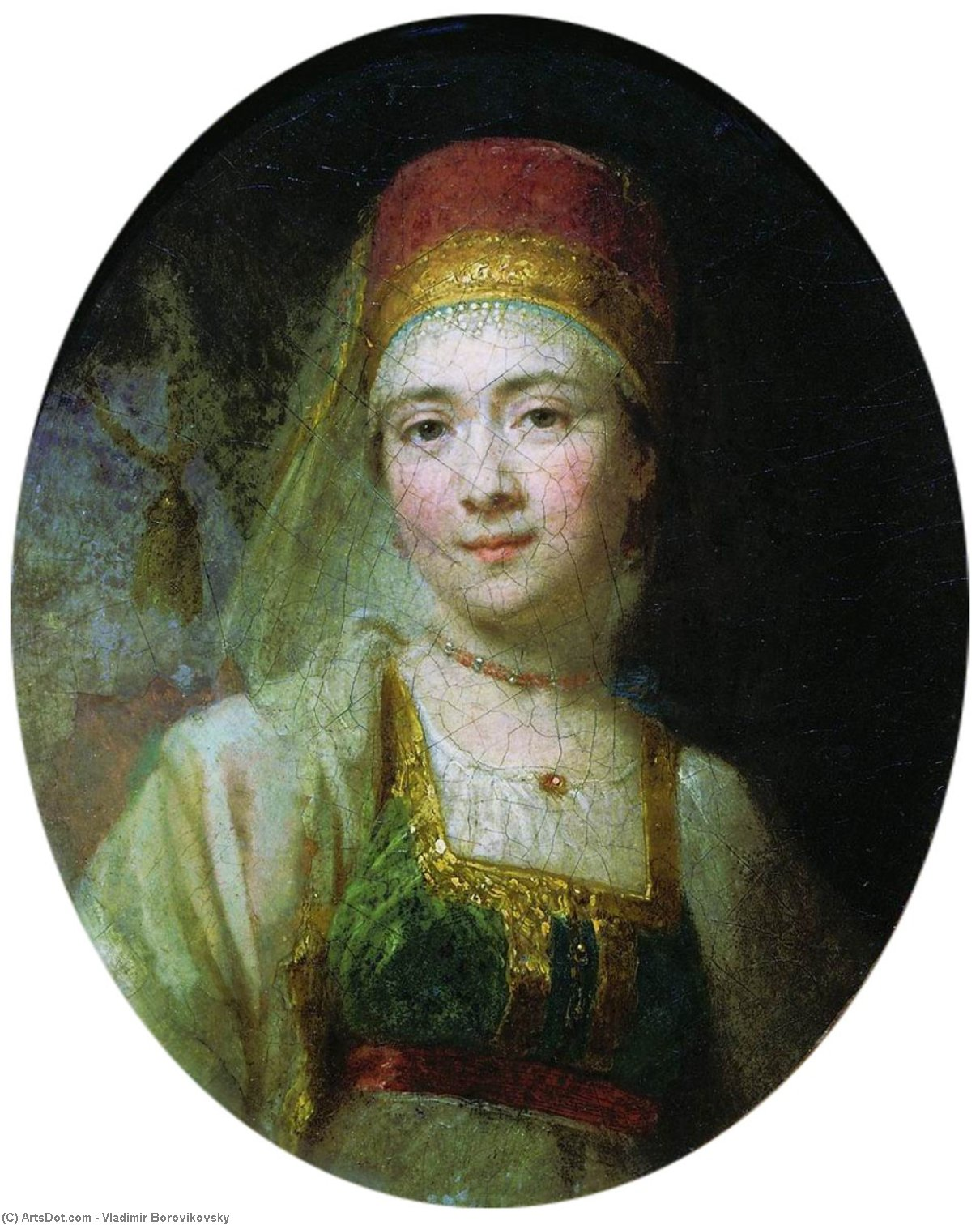 Christina, the Peasant Woman from Torzhok, 1795 by Vladimir Lukich Borovikovsky (1757-1825) | Museum Quality Reproductions | ArtsDot.com