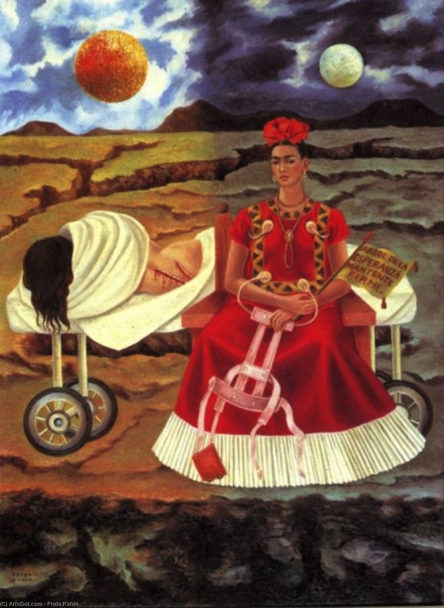 Tree of Hope, Oil by Frida Kahlo (1907-1954, Mexico)