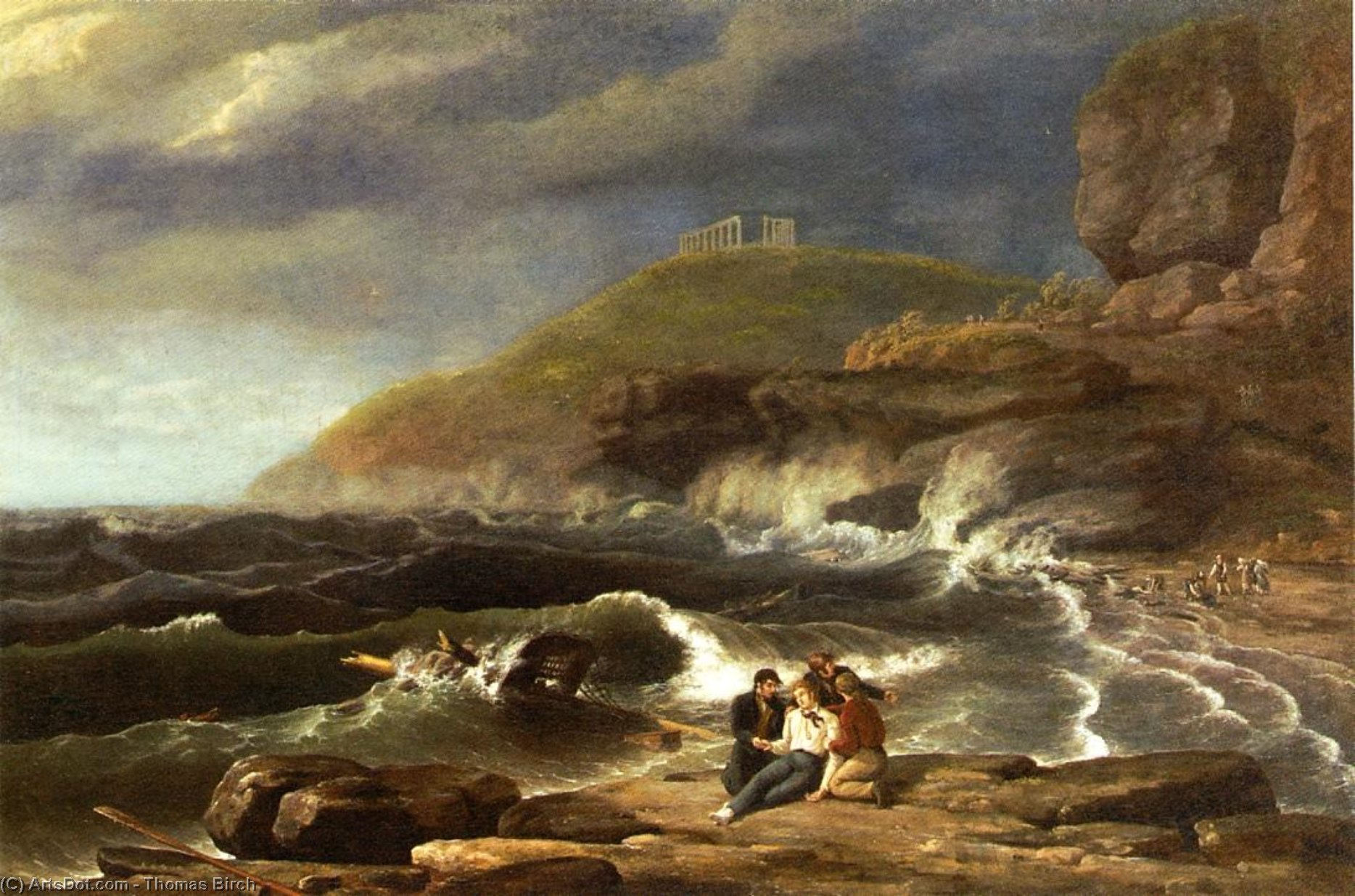 Falconer's Shipwreck, Oil On Canvas by Thomas Birch (1779-1851, United Kingdom)