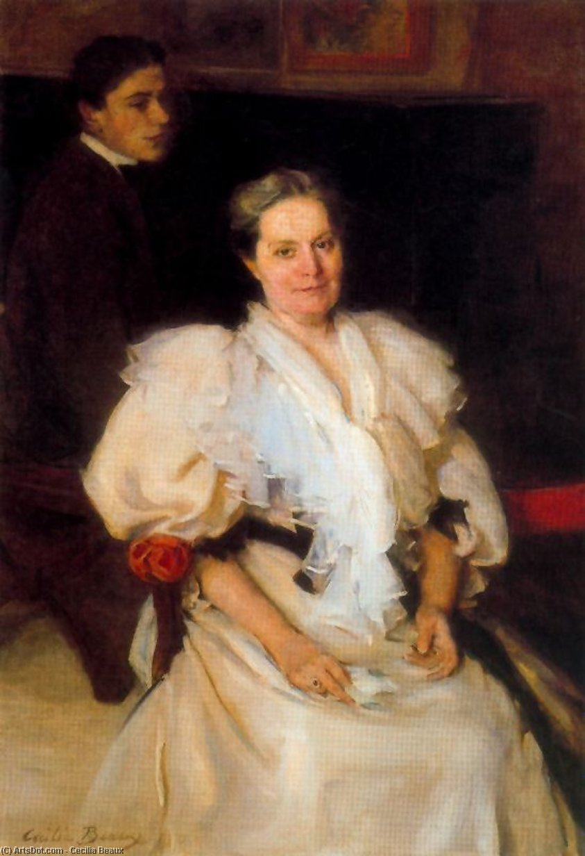 Mother and Son, Oil by Cecilia Beaux (1855-1942, United States)