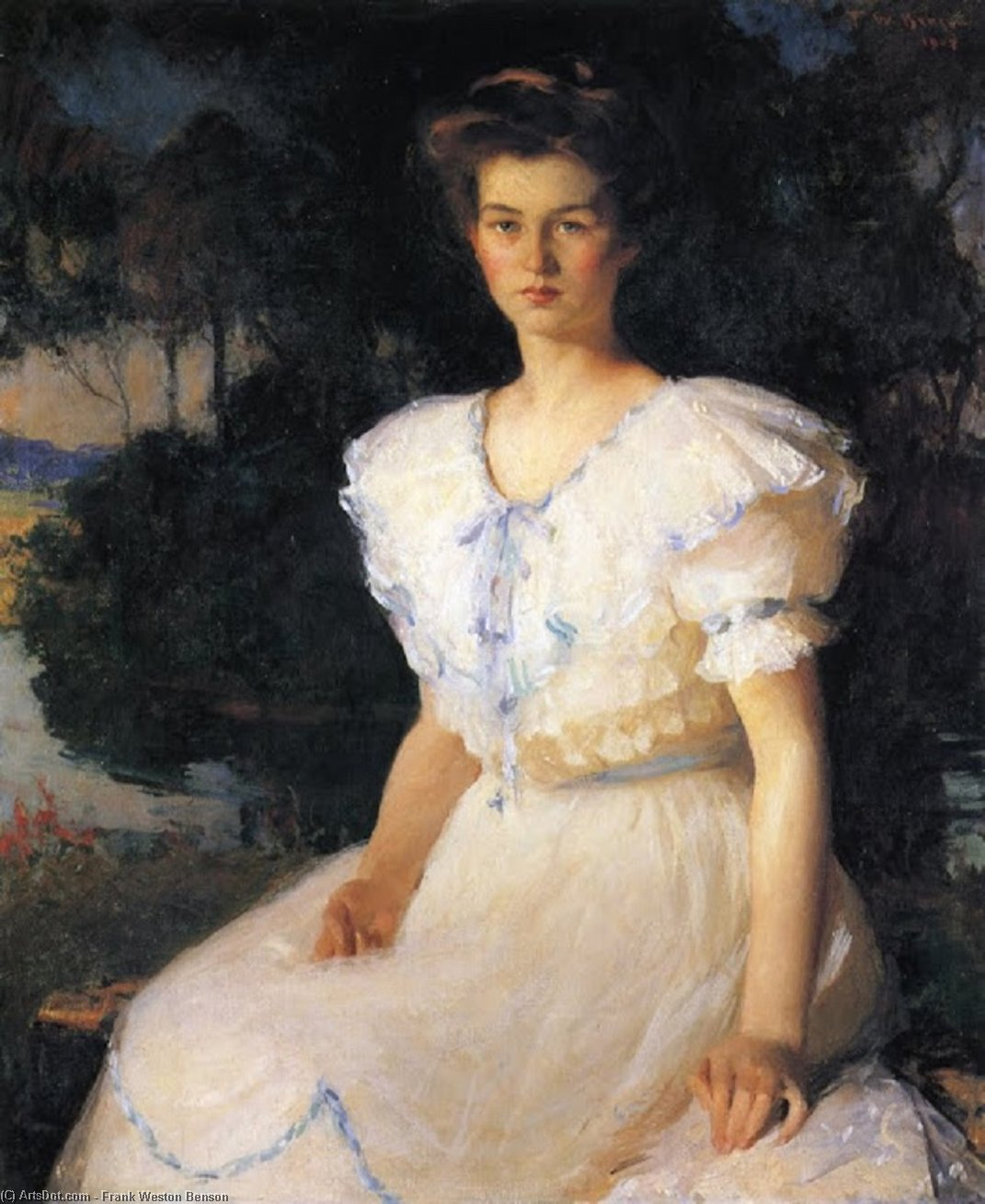 Dorothy Lincoln, Oil by Frank Weston Benson (1862-1951, United States)