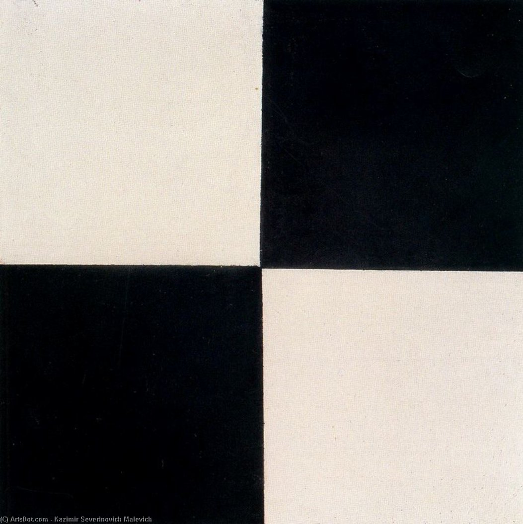 Four Squares by Kazimir Severinovich Malevich (1879-1935, Ukraine) | Art Reproduction | ArtsDot.com