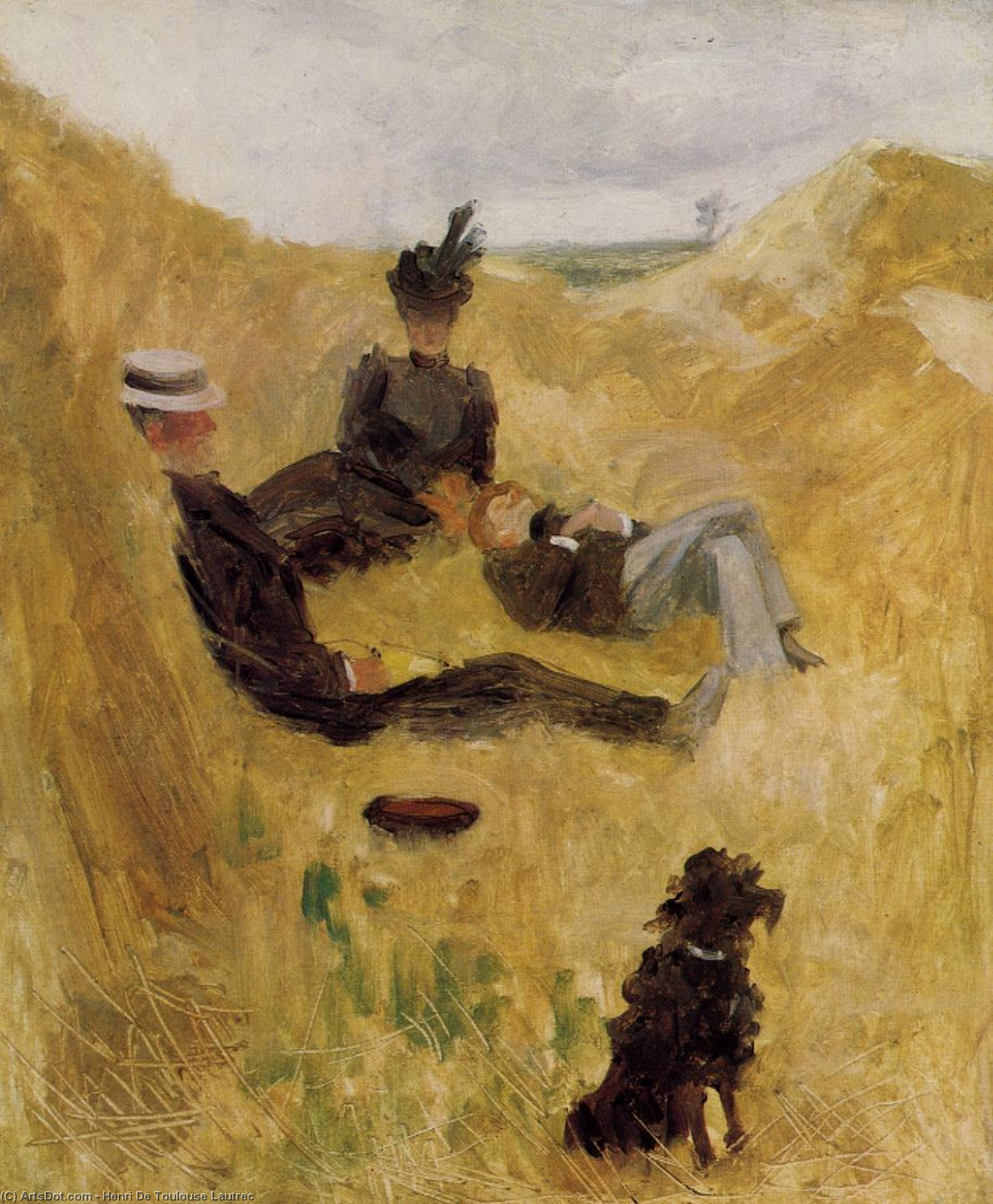 Party in the Country, Oil On Canvas by Henri De Toulouse Lautrec (1864-1901, France)