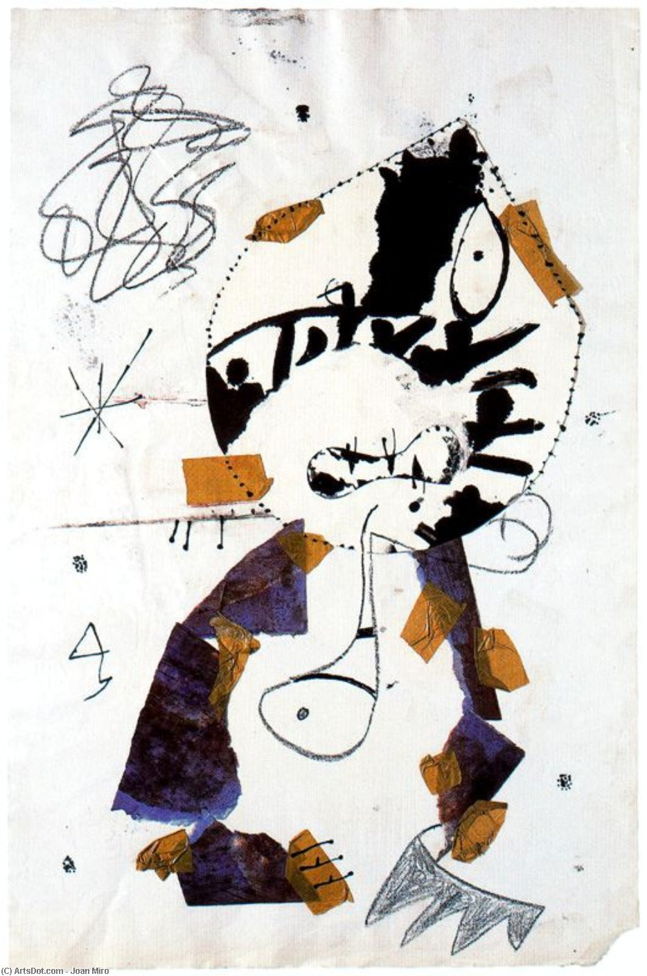 Dibuix per a un gravat, Oil by Joan Miro (1893-1983, Spain)