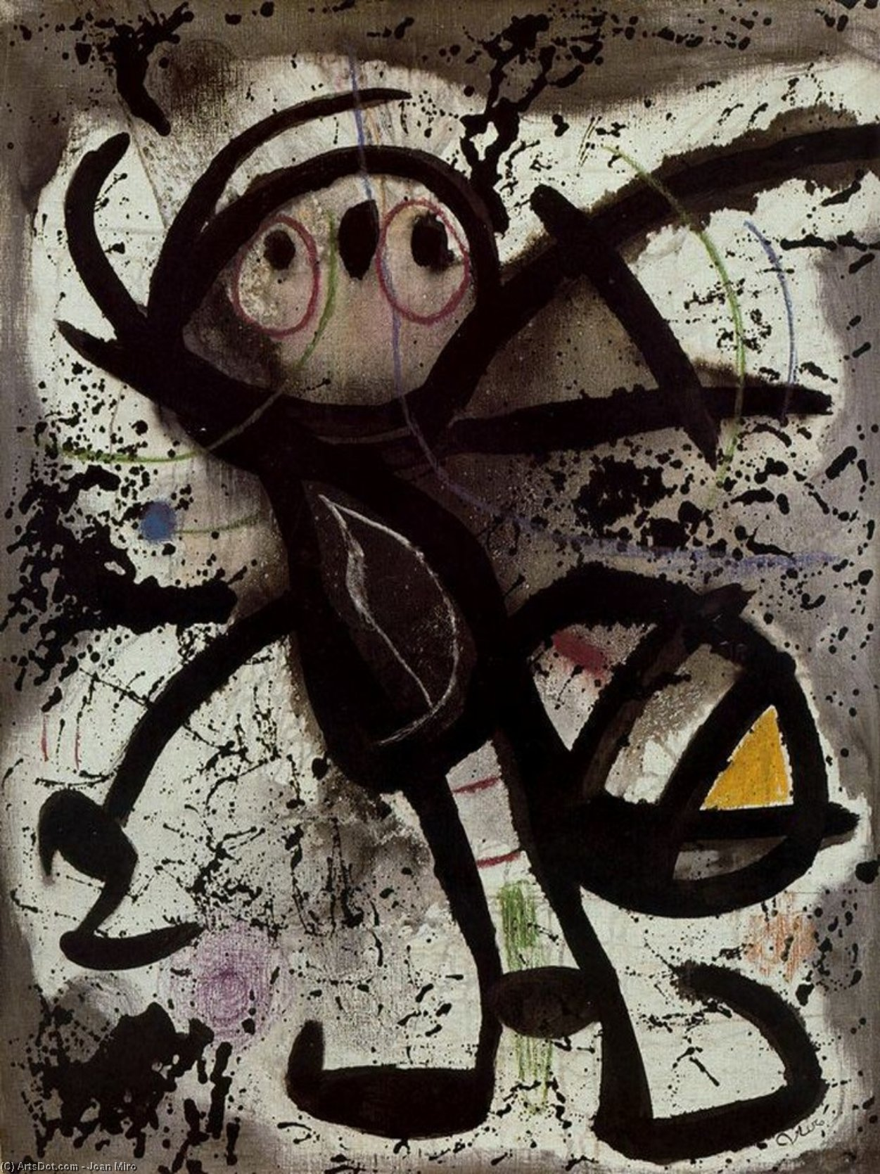 Mujer 2, Oil by Joan Miro (1893-1937, Spain)