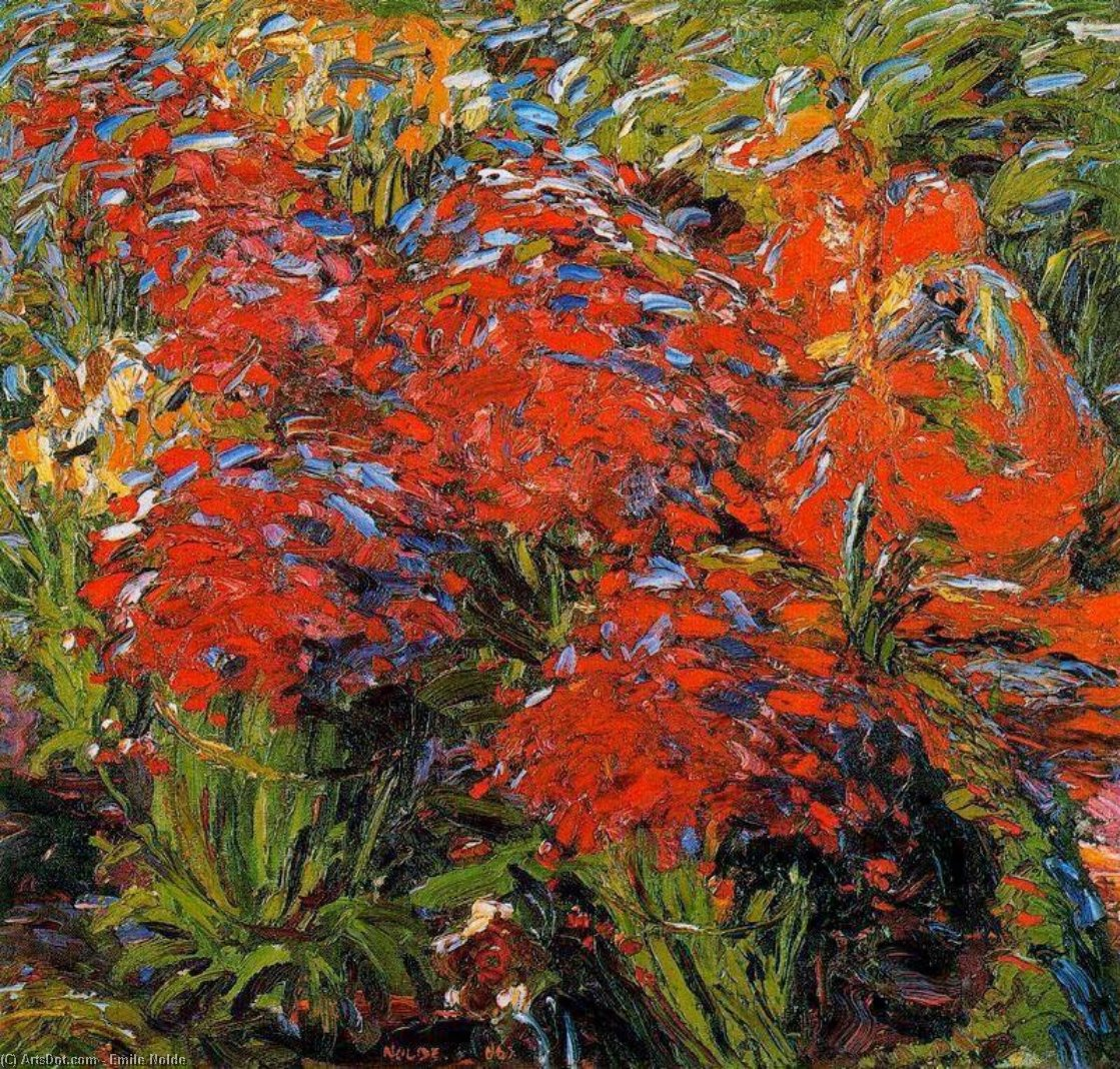 Garden path by Emile Nolde (1867-1956, Germany)