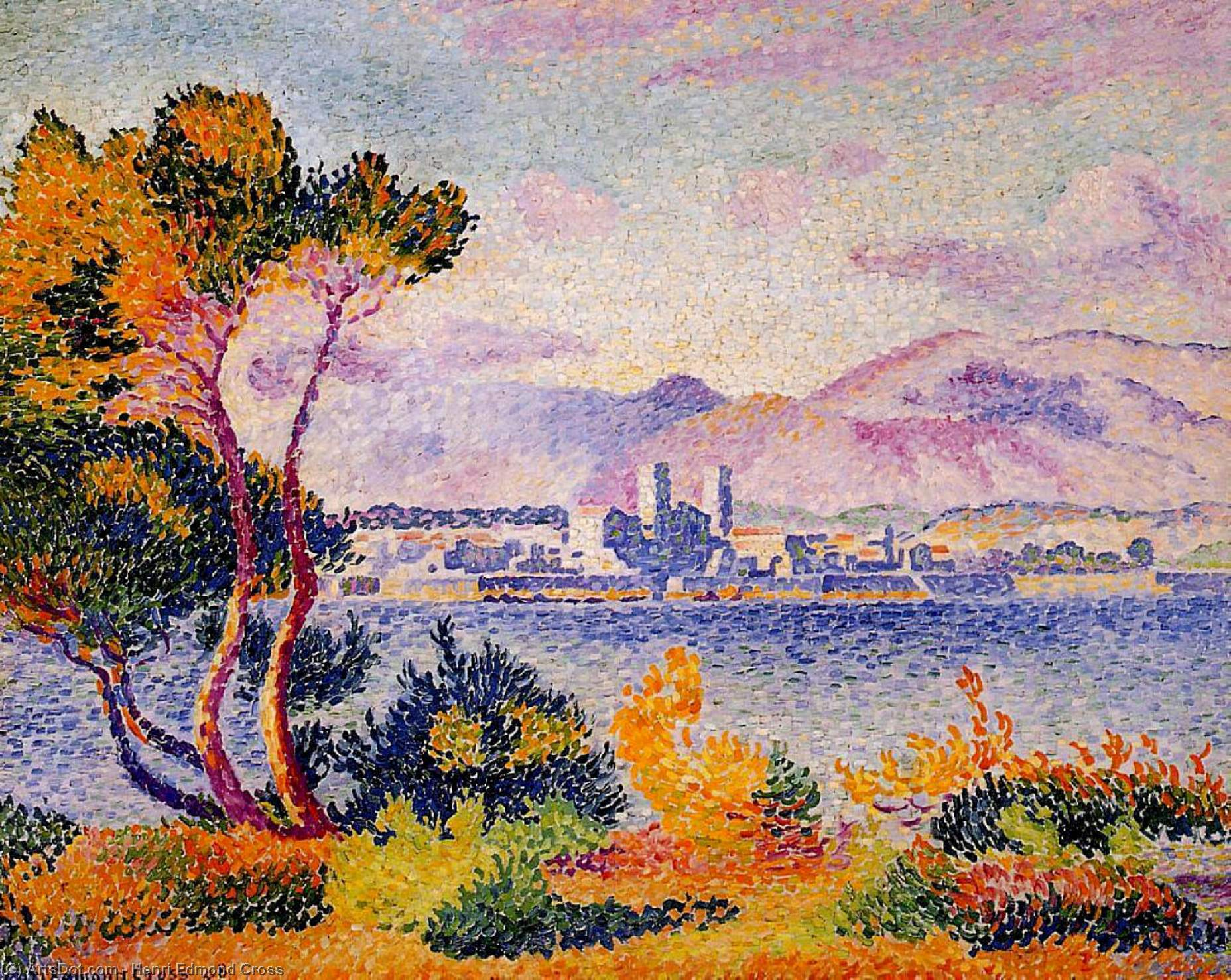 Antibes, Afternoon by Henri Edmond Cross (1856-1910, France)
