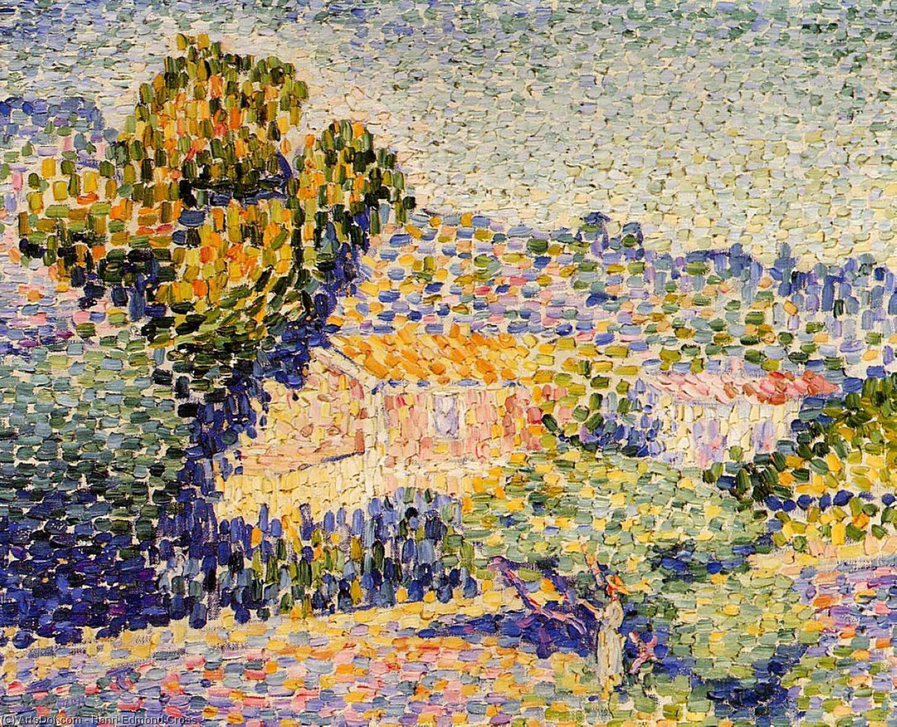 The Pink House, Oil On Canvas by Henri Edmond Cross (1856-1910, France)
