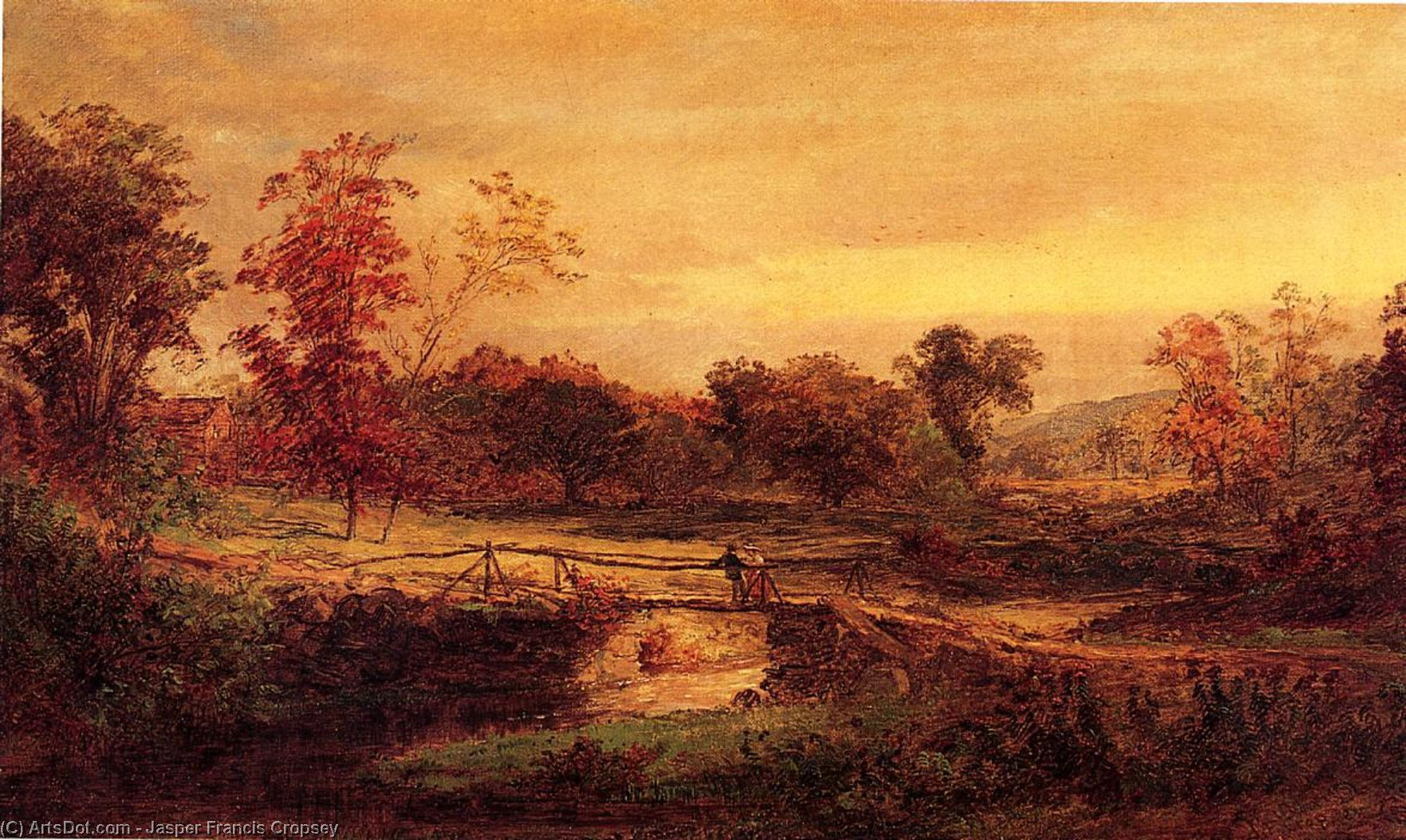 The Meeting, Oil On Canvas by Jasper Francis Cropsey (1823-1900, United States)