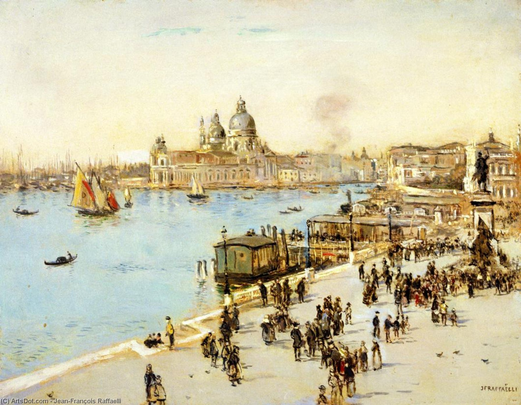 View of Venice, 1914 by Jean-François Raffaelli (1850-1924, France) | Museum Quality Reproductions | ArtsDot.com