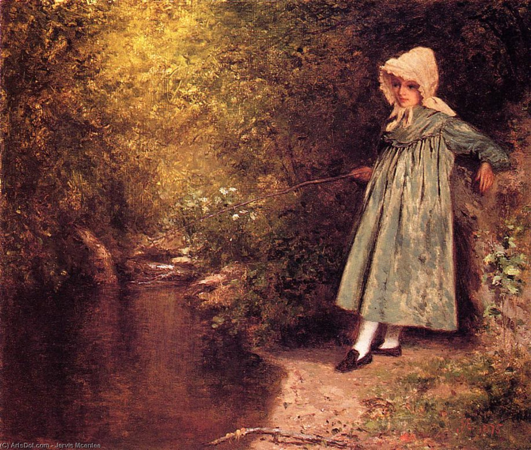 Order Art Reproduction : My Little Fisher Girl, 1875 by Jervis Mcentee (1828-1891, United States) | ArtsDot.com