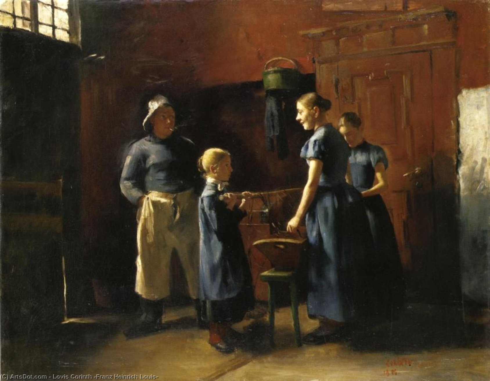 In the Fisherman's House, Oil On Canvas by Lovis Corinth (Franz Heinrich Louis) (1858-1925, Netherlands)