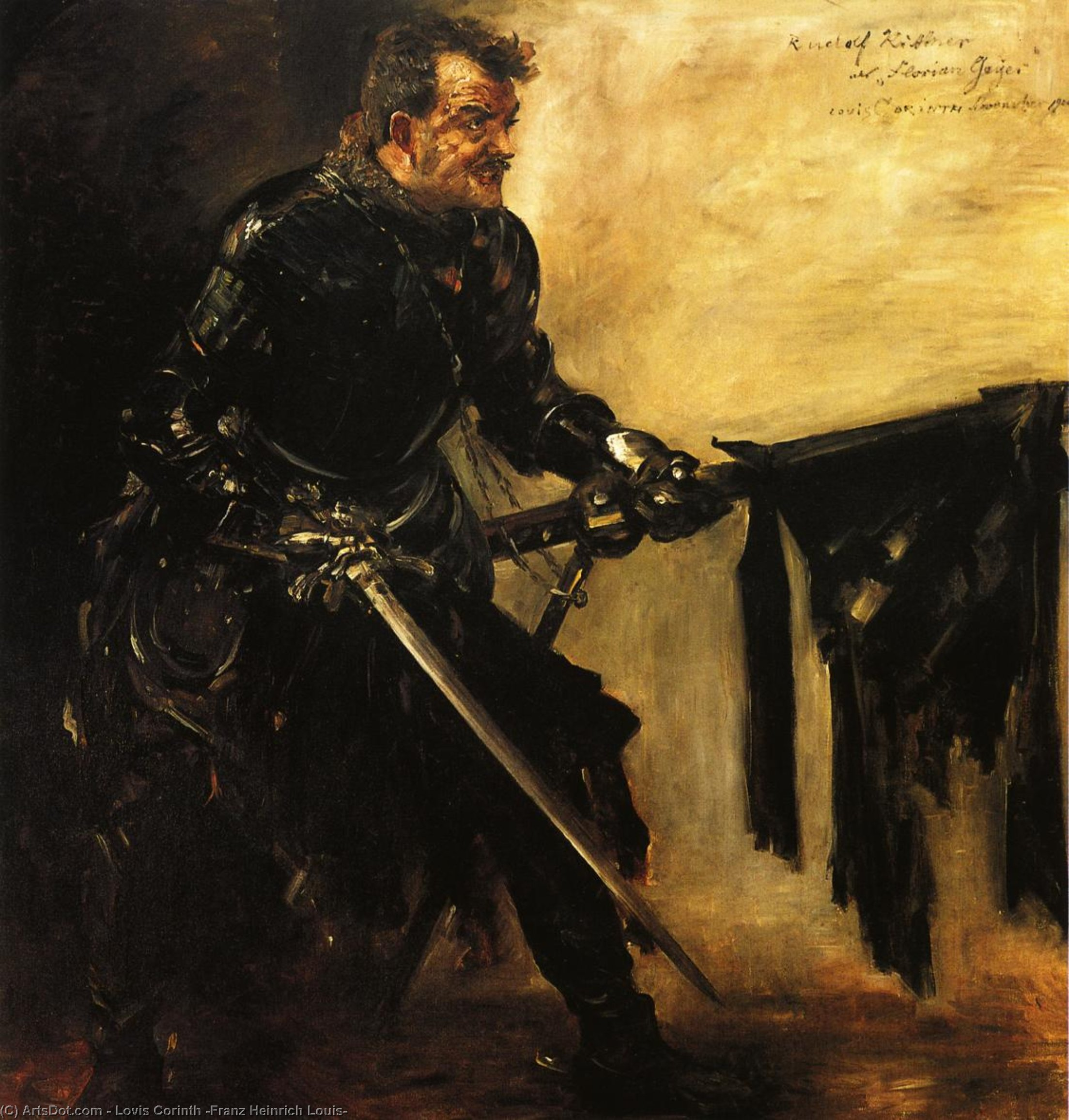 Rudolph Rittner as Florian Geyer, First Version, Oil On Canvas by Lovis Corinth (Franz Heinrich Louis) (1858-1925, Netherlands)