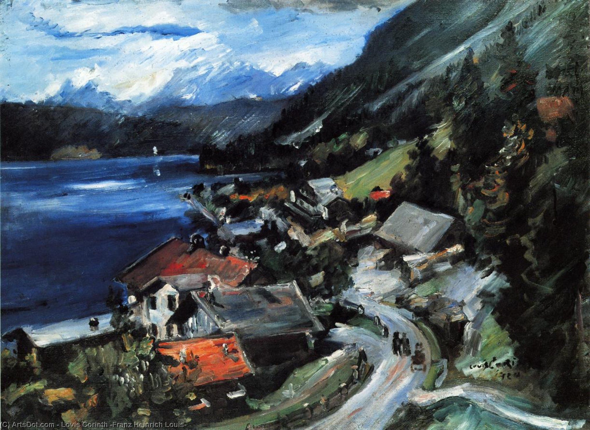 The Walchensee, Serpentine, Oil On Canvas by Lovis Corinth (Franz Heinrich Louis) (1858-1925, Netherlands)