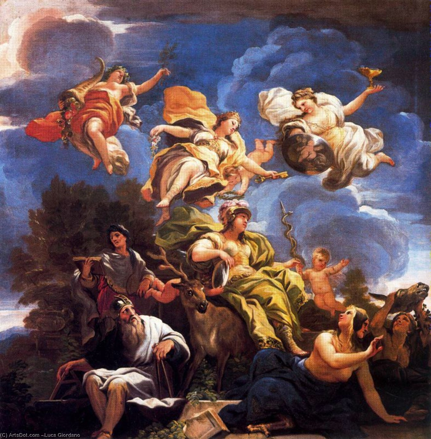 Allegory of Prudence by Luca Giordano (1634-1705, Italy)