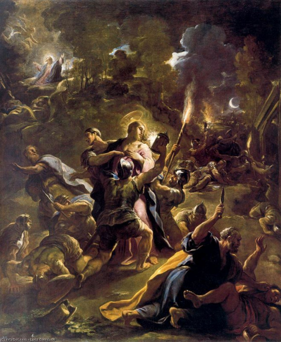 Arrest of Christ by Luca Giordano (1634-1705, Italy)