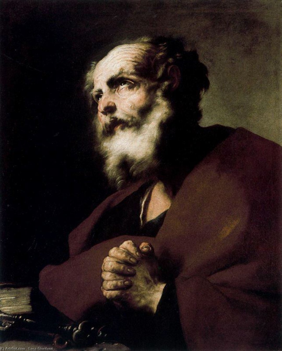 St. Peter Penitent by Luca Giordano (1634-1705, Italy)