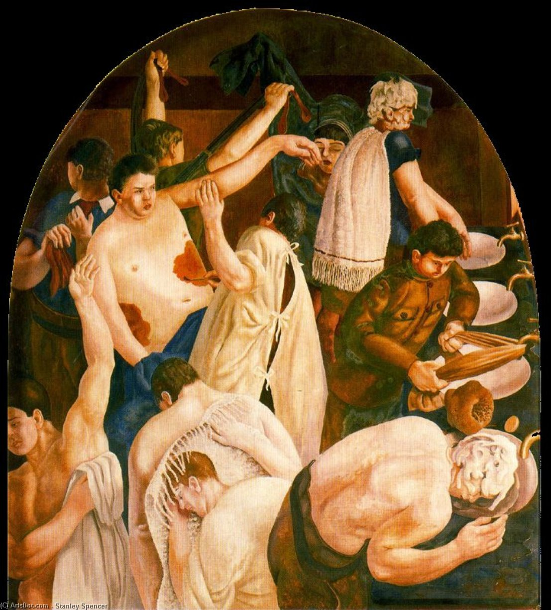 Ablutions by Stanley Spencer (1891-1959, United Kingdom) | ArtsDot.com