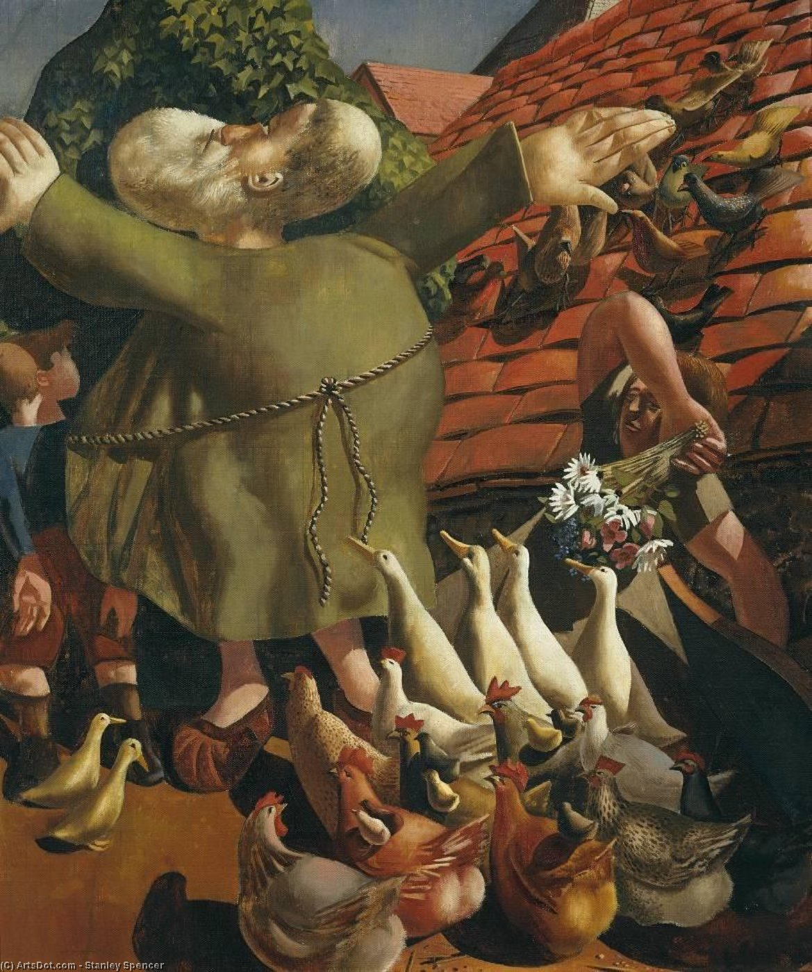 St Francis and the Birds by Stanley Spencer (1891-1959, United Kingdom) | ArtsDot.com