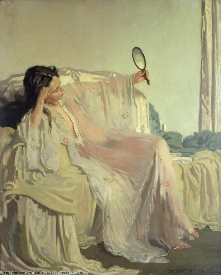 The Eastern Gown, 1906 by William Newenham Montague Orpen (1878-1931, Ireland) | Art Reproduction | ArtsDot.com