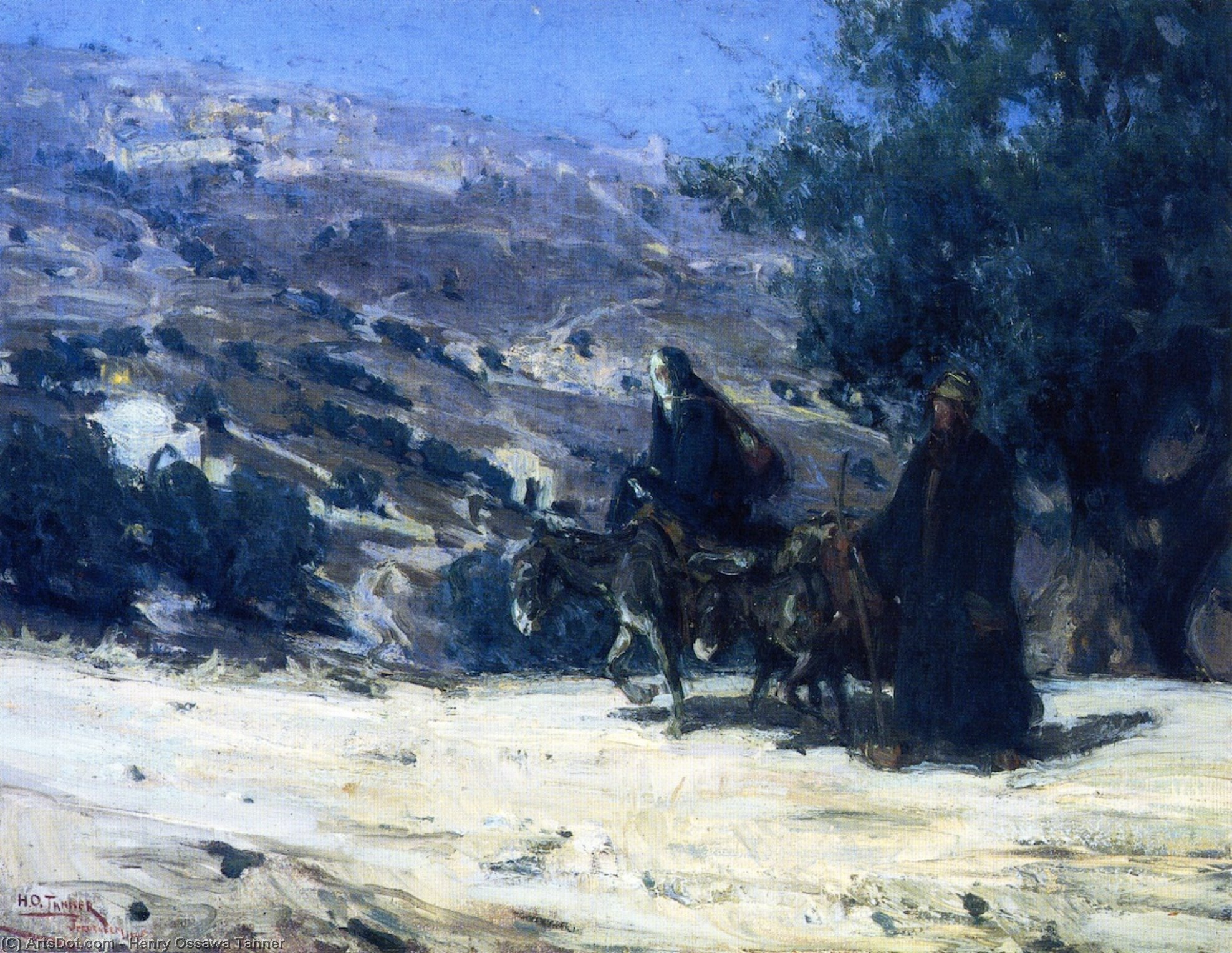 Flight into Egypt, 1899 by Henry Ossawa Tanner (1859-1937, United States) | Art Reproduction | ArtsDot.com
