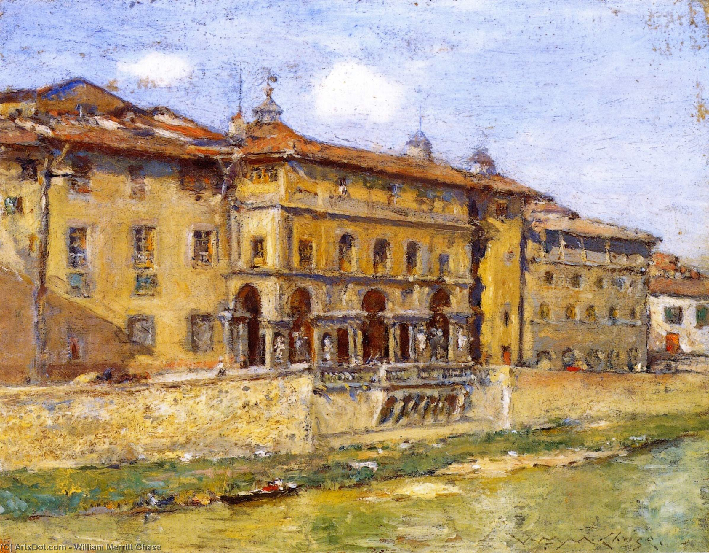Florence, Oil On Panel by William Merritt Chase (1849-1916, United States)