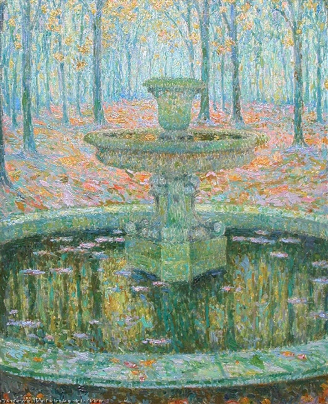 The Fountain, Oil On Canvas by Henri Eugène Augustin Le Sidaner (1862-1939, Mauritius)