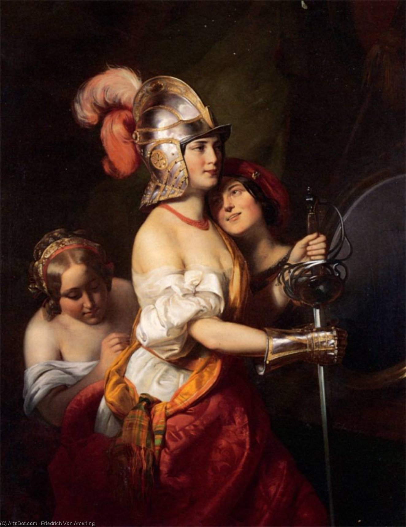 In the Theatre Dressing Room, Oil On Canvas by Friedrich Ritter Von Amerling (1803-1887)