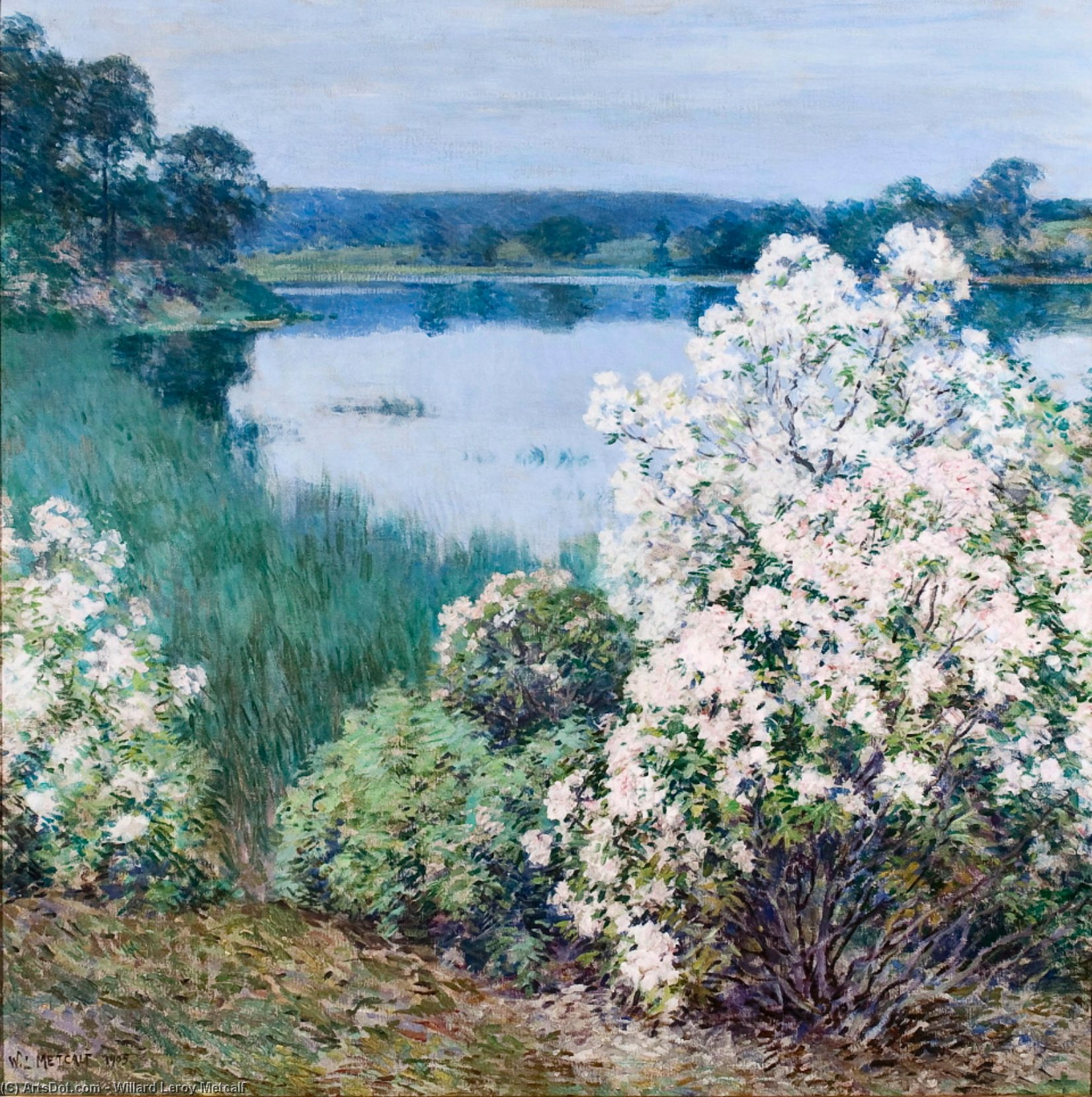 Order Art Reproduction : Kalmia, 1912 by Willard Leroy Metcalf (1858-1925, United States) | ArtsDot.com