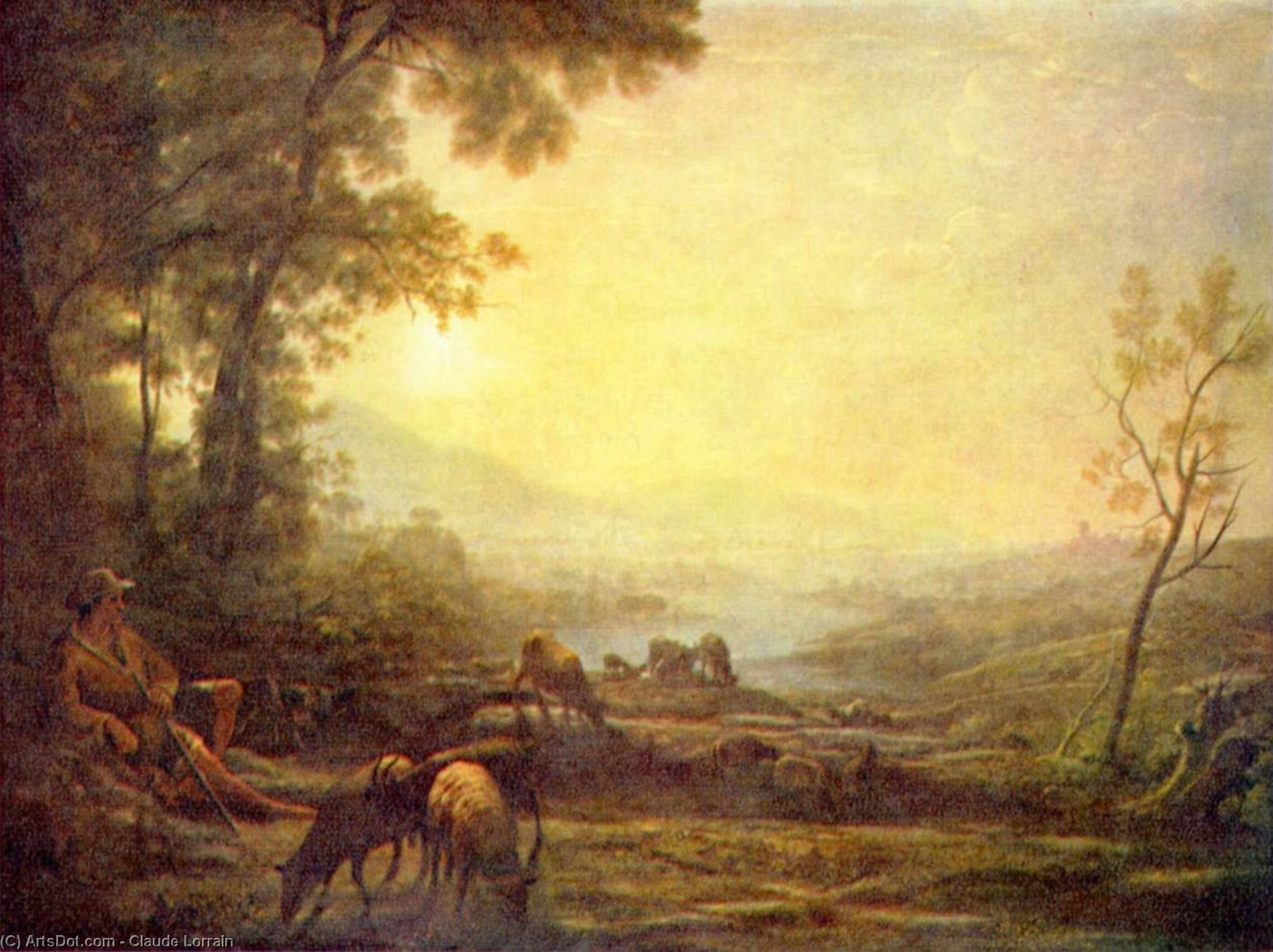 Shepherd, Oil On Canvas by Claude Lorrain (Claude Gellée)