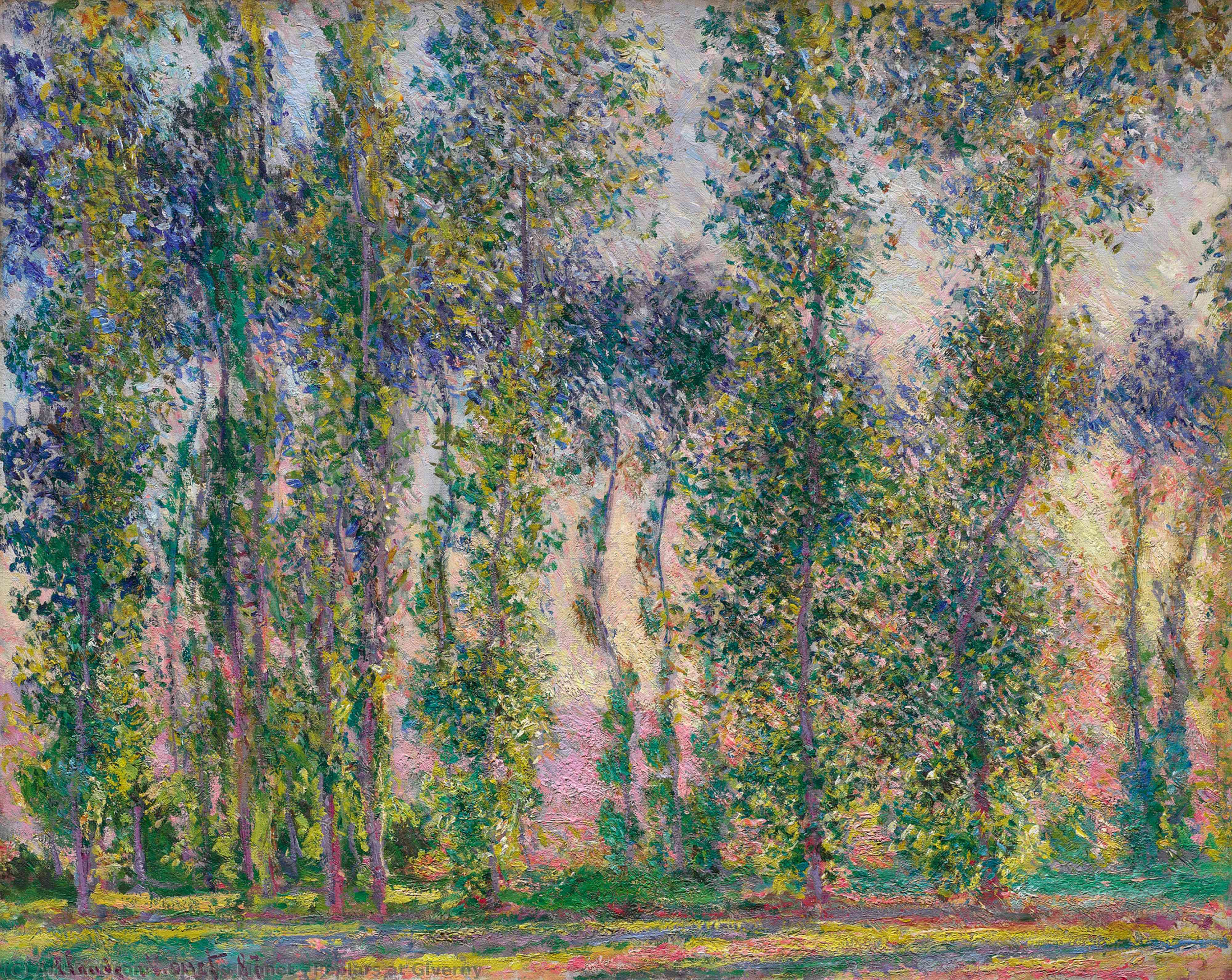 Poplars at Giverny, 1887 by Claude Monet (1840-1926, France) | Oil Painting | ArtsDot.com