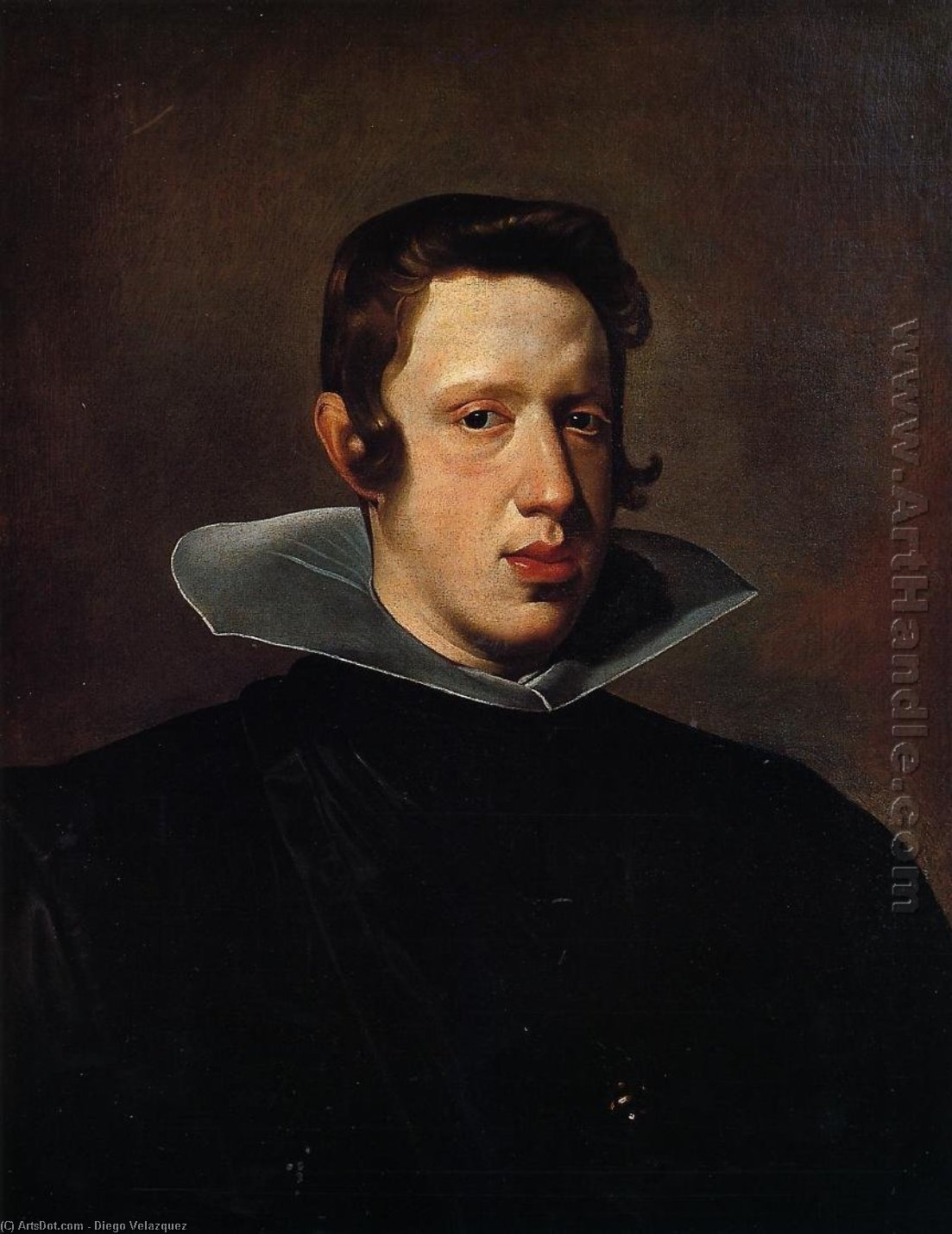 Philip IV, Oil On Canvas by Diego Velazquez (1599-1660, Spain)
