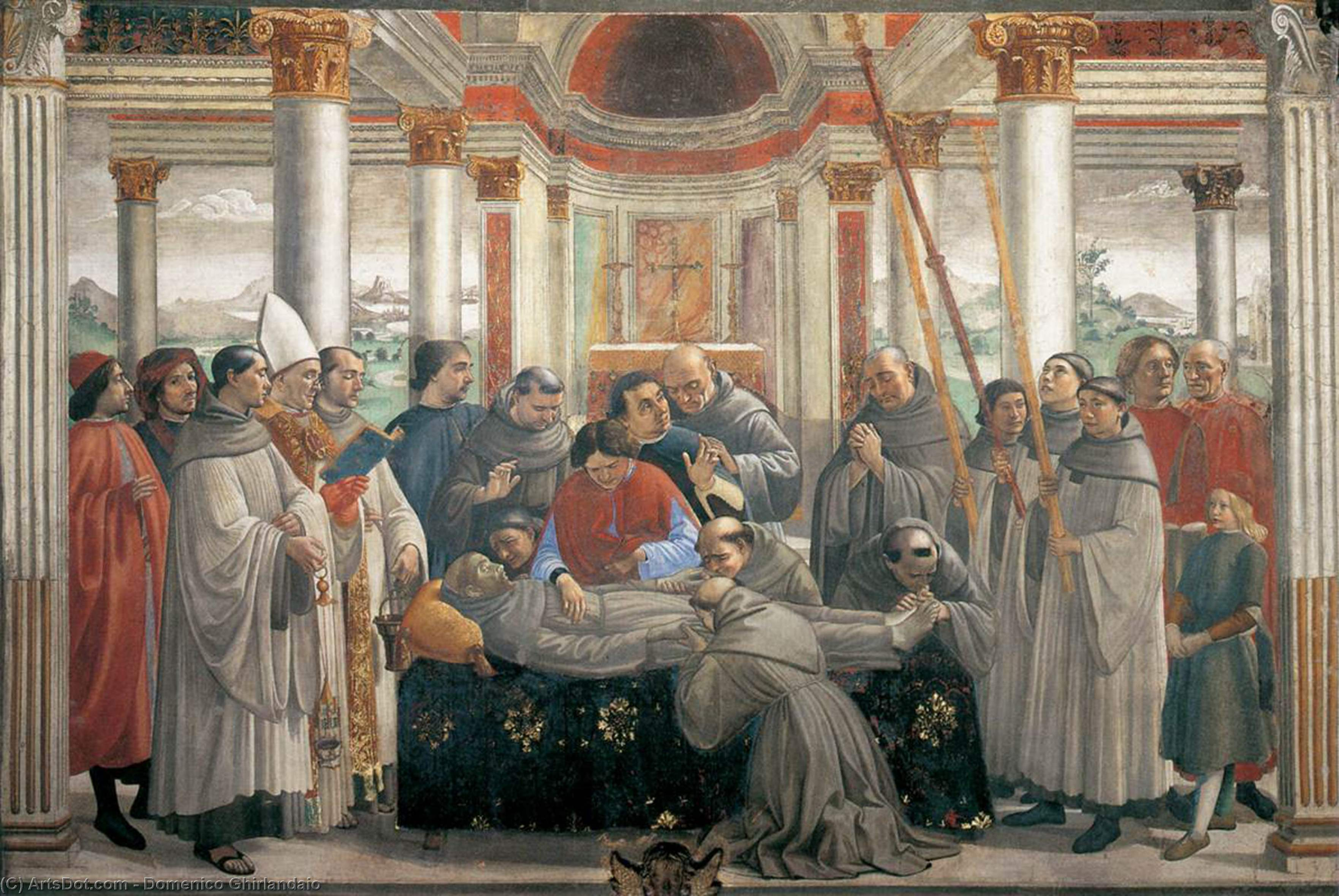The Death of St. Francis, 1485 by Domenico Ghirlandaio (1449-1494, Italy) | Art Reproduction | ArtsDot.com